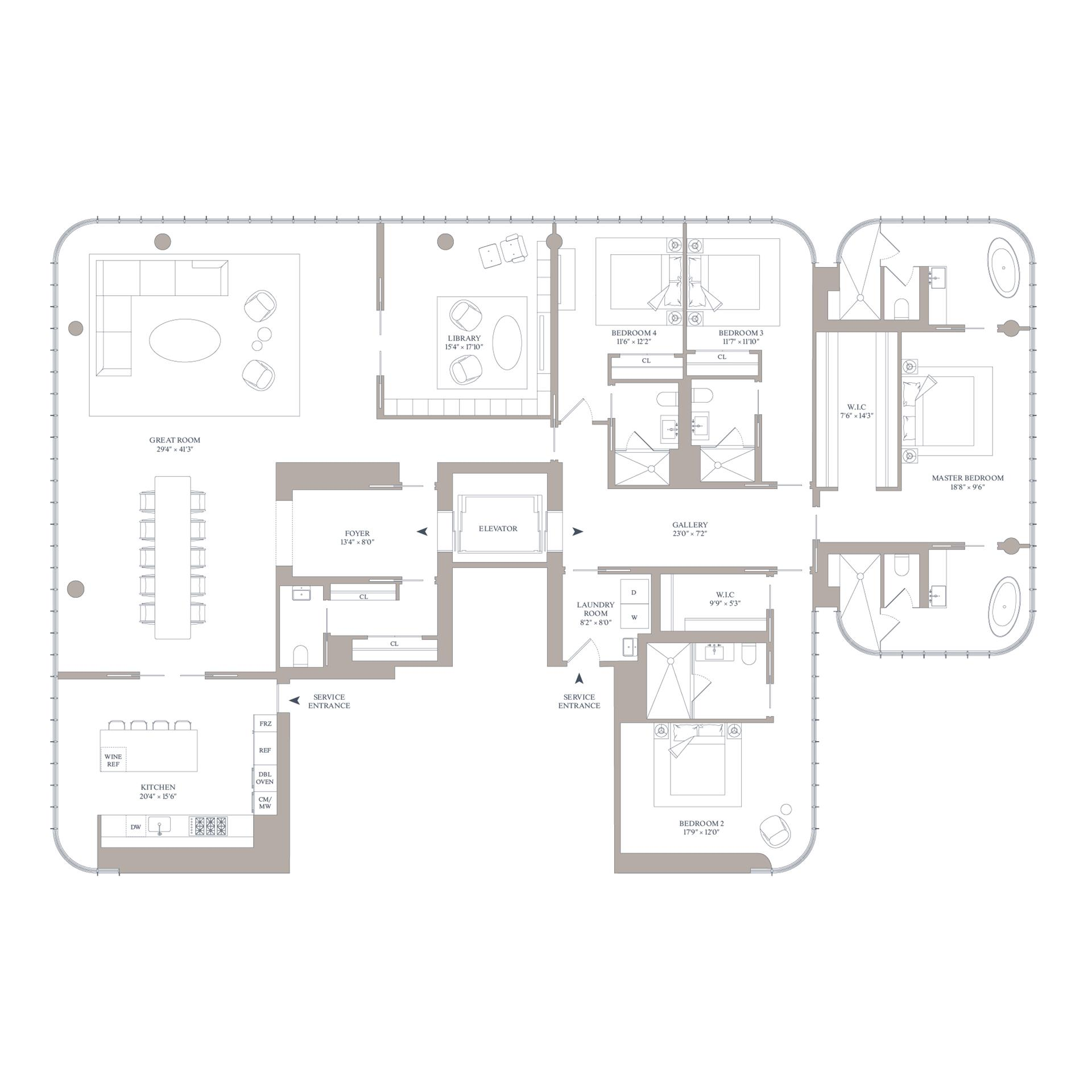 Floor plan of 565 Broome Street, N28A - SoHo - Nolita, New York