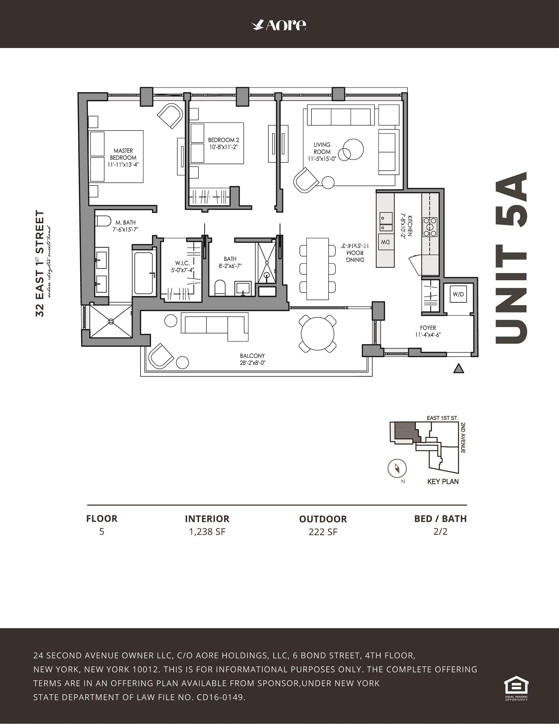 Floor plan of 32 East 1st Street, 5A - East Village, New York