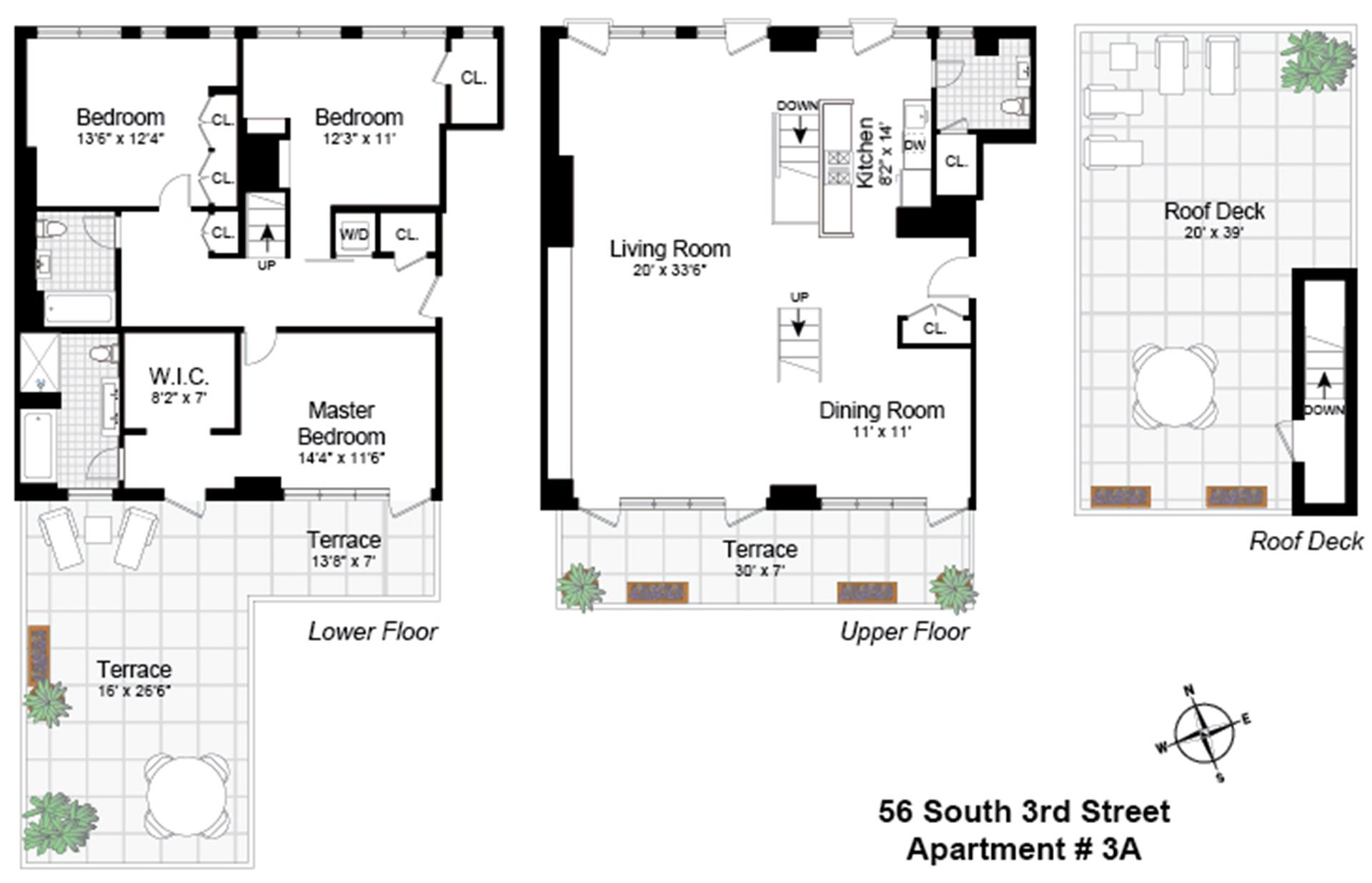Floor plan of 56 South 3rd Street, 3A - Williamsburg, New York