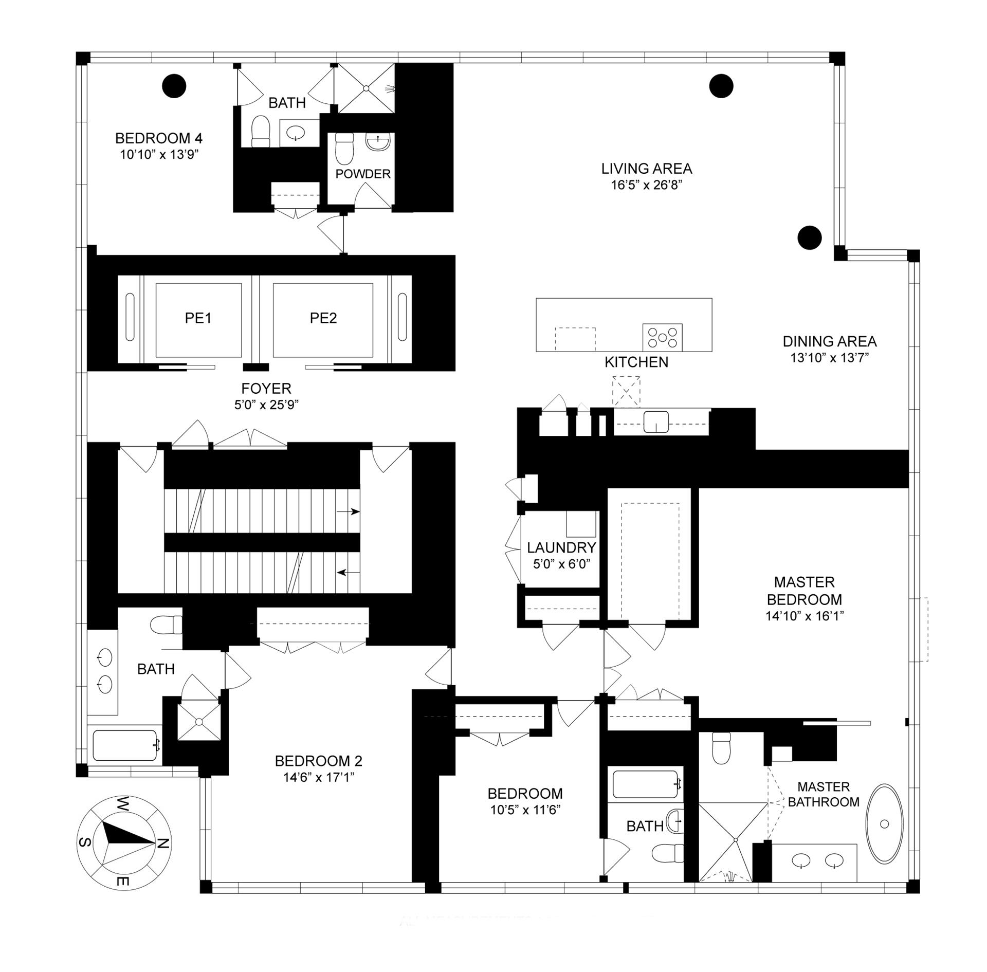 Floor plan of One Madison, 23 East 22nd Street, 40A - Flatiron District, New York