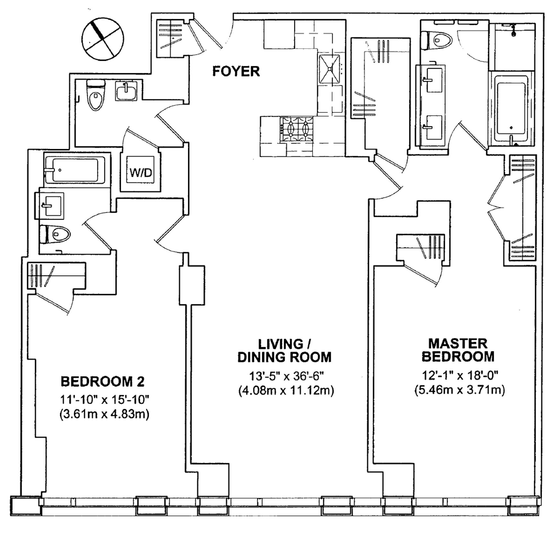 Floor plan of 101 Warren Street, 1280 - TriBeCa, New York
