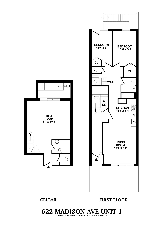 Floor plan of 622 Madison Street, 1 - Bedford - Stuyvesant, New York