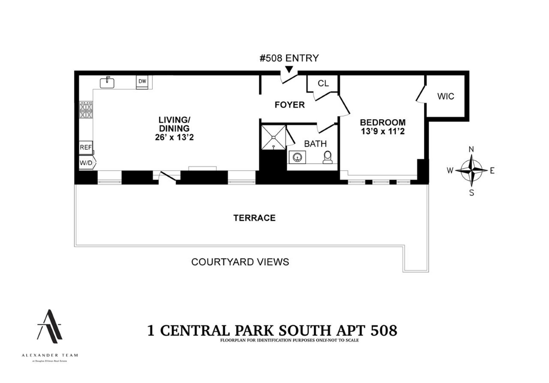 Floor plan of The Plaza Residences, 1 Central Park South, 508 - Central Park South, New York