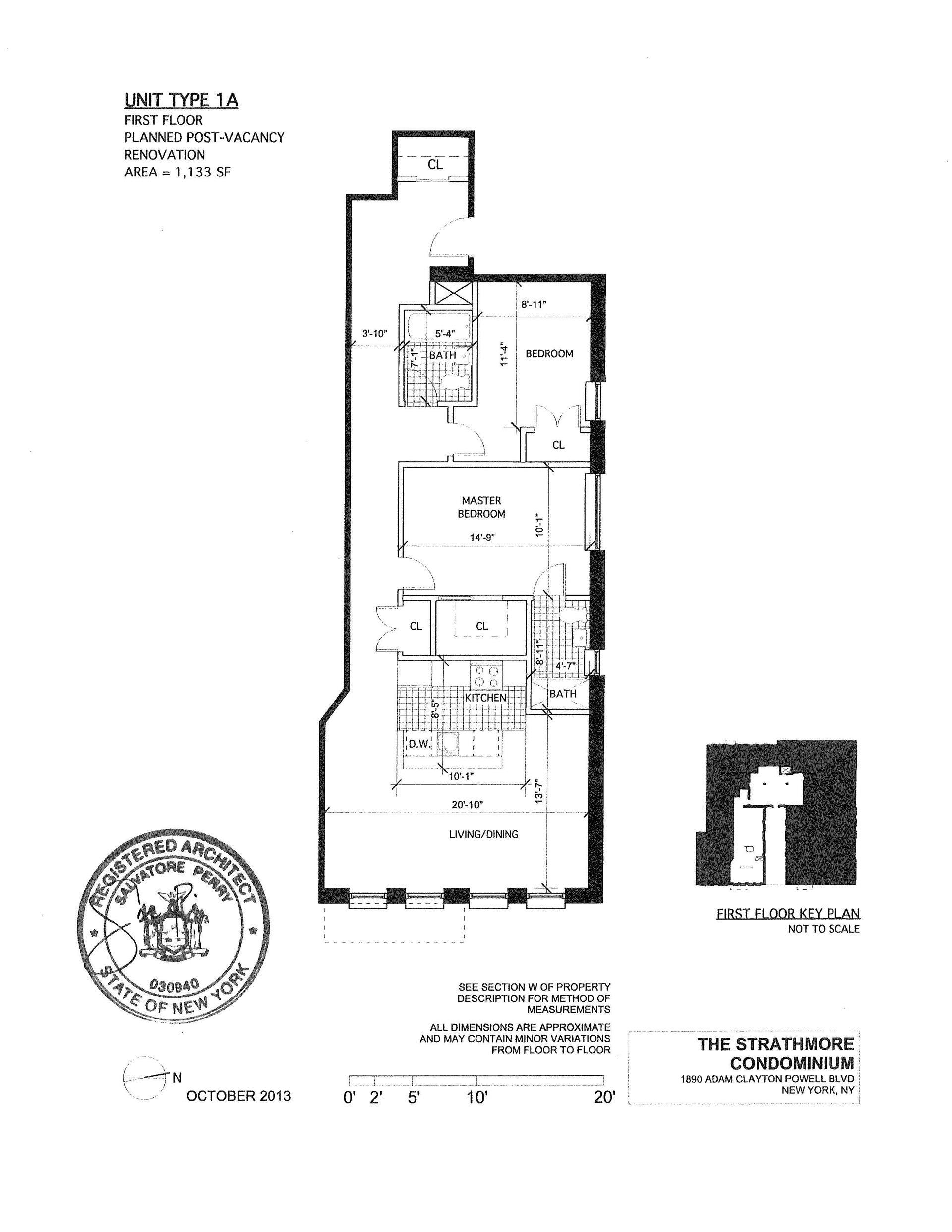Floor plan of The Strathmore, 1890 Adam C Powell Boulevard, 1A - Harlem, New York