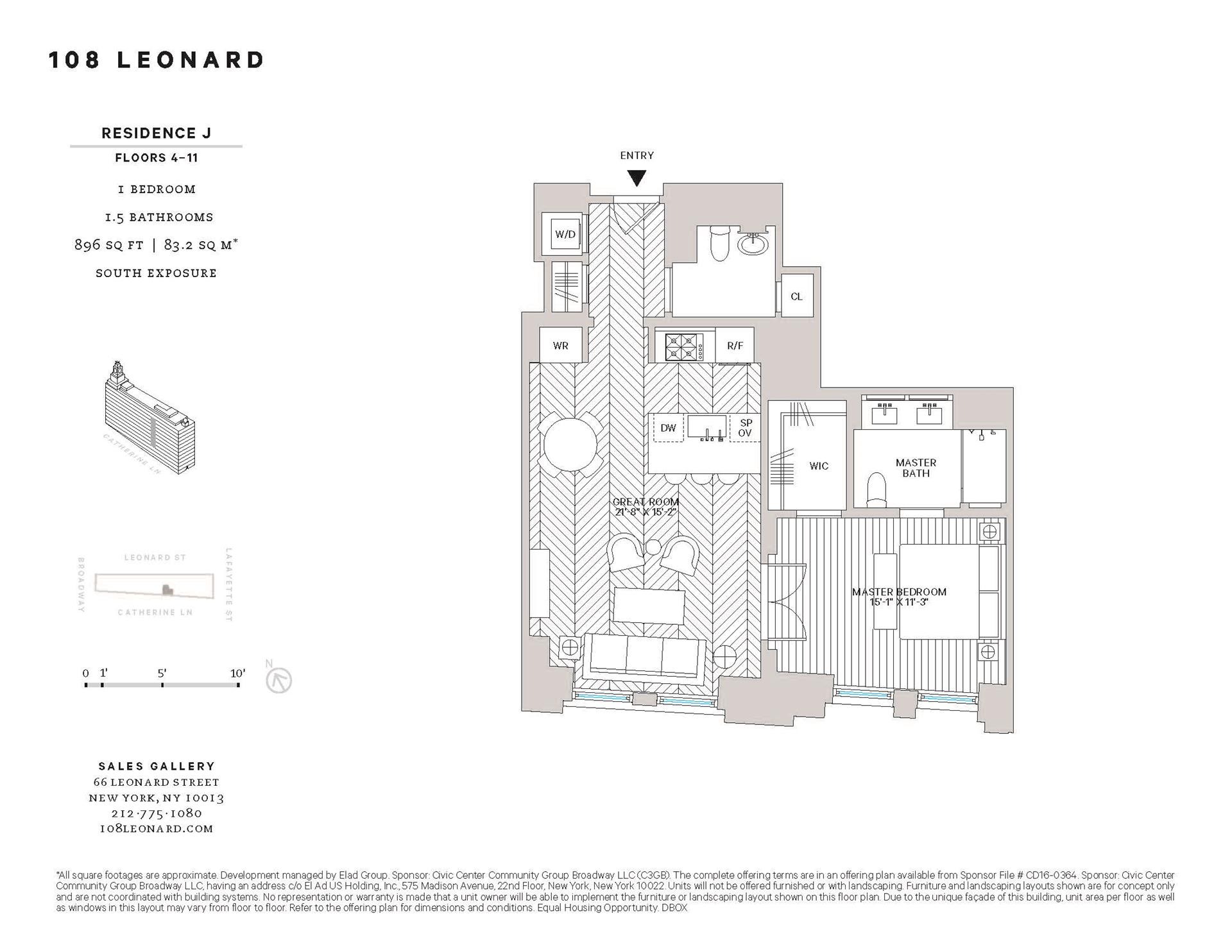 Floor plan of 108 Leonard Street, 8J - TriBeCa, New York