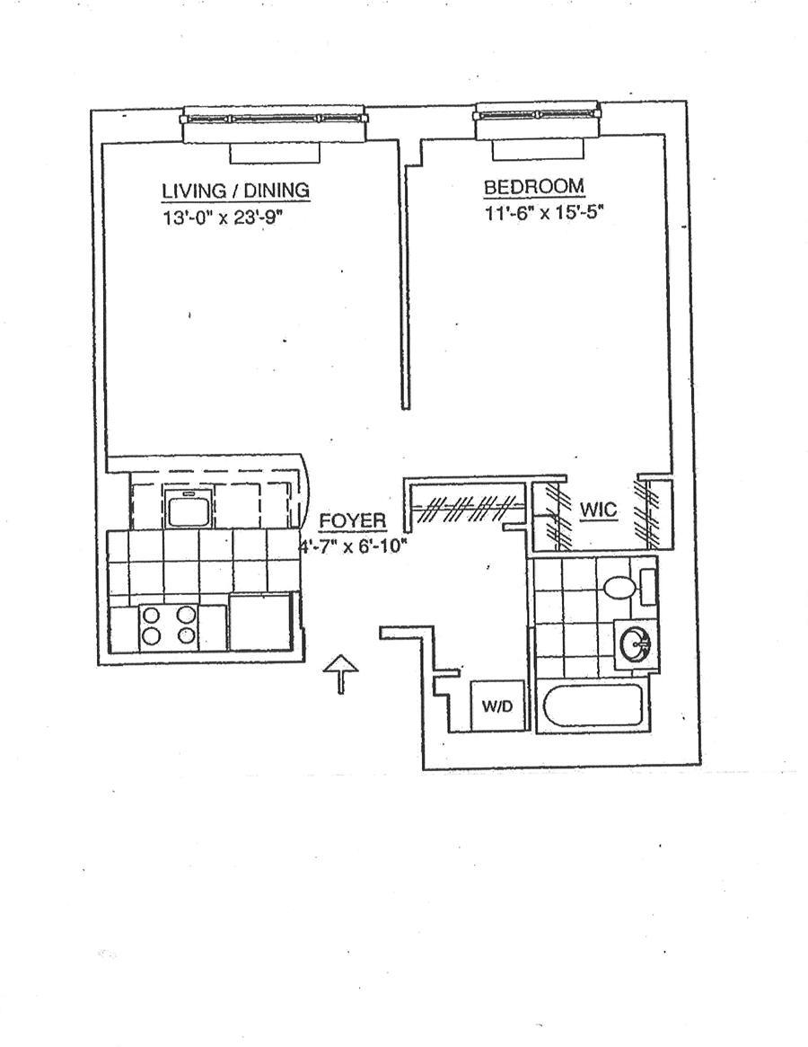 Floor plan of 555 West 23rd Street, S6C - Chelsea, New York