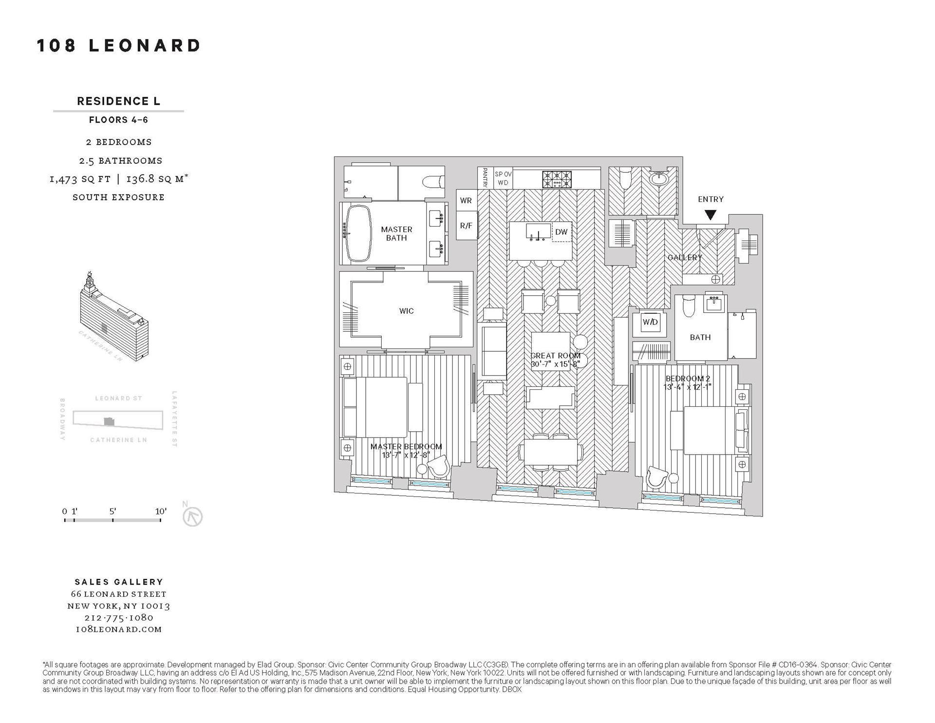 Floor plan of 108 Leonard Street, 4L - TriBeCa, New York