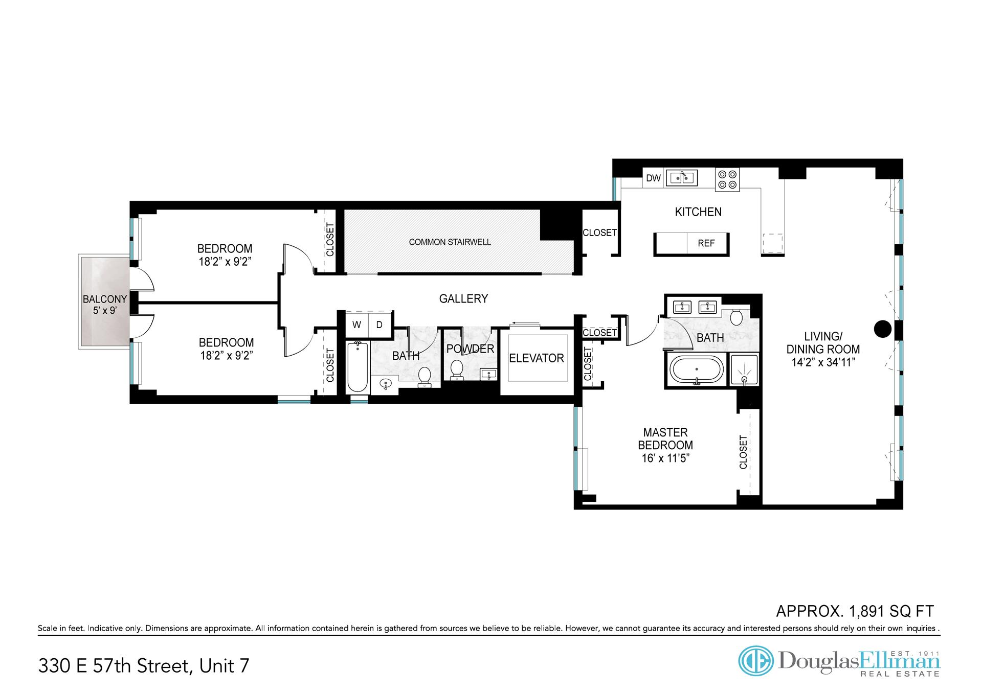 Floor plan of 330 East 57th Street, 330 East 57th Street, 7 - Sutton Area, New York
