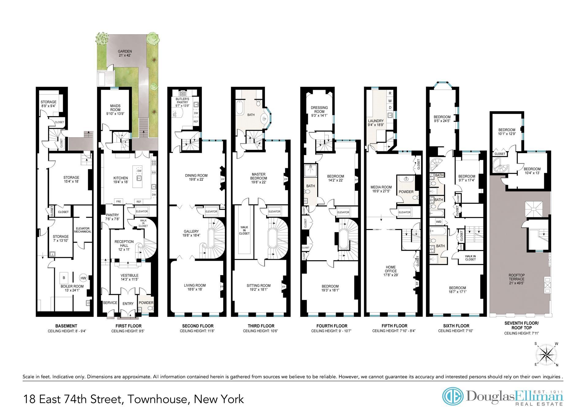 Floor plan of 18 East 74th Street - Upper East Side, New York