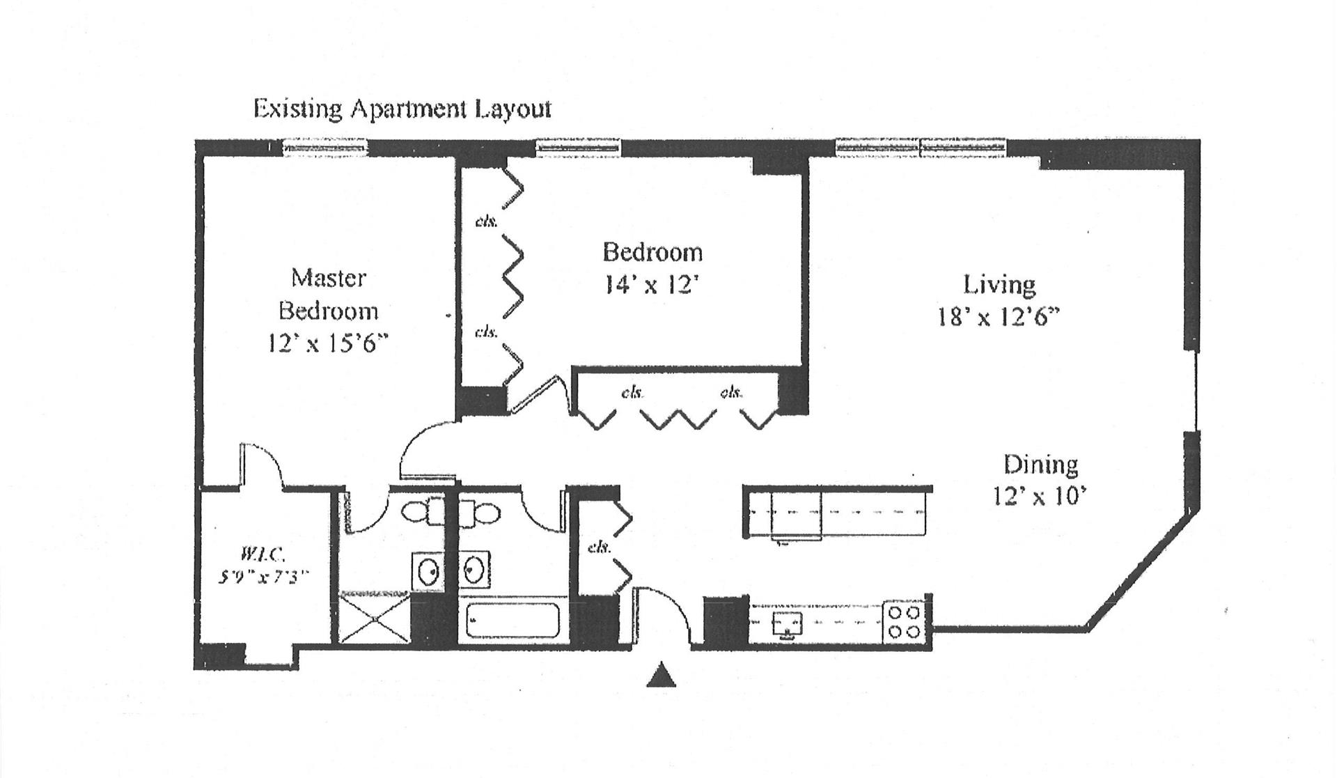 Floor plan of 1641 Third Avenue, 37H - Upper East Side, New York