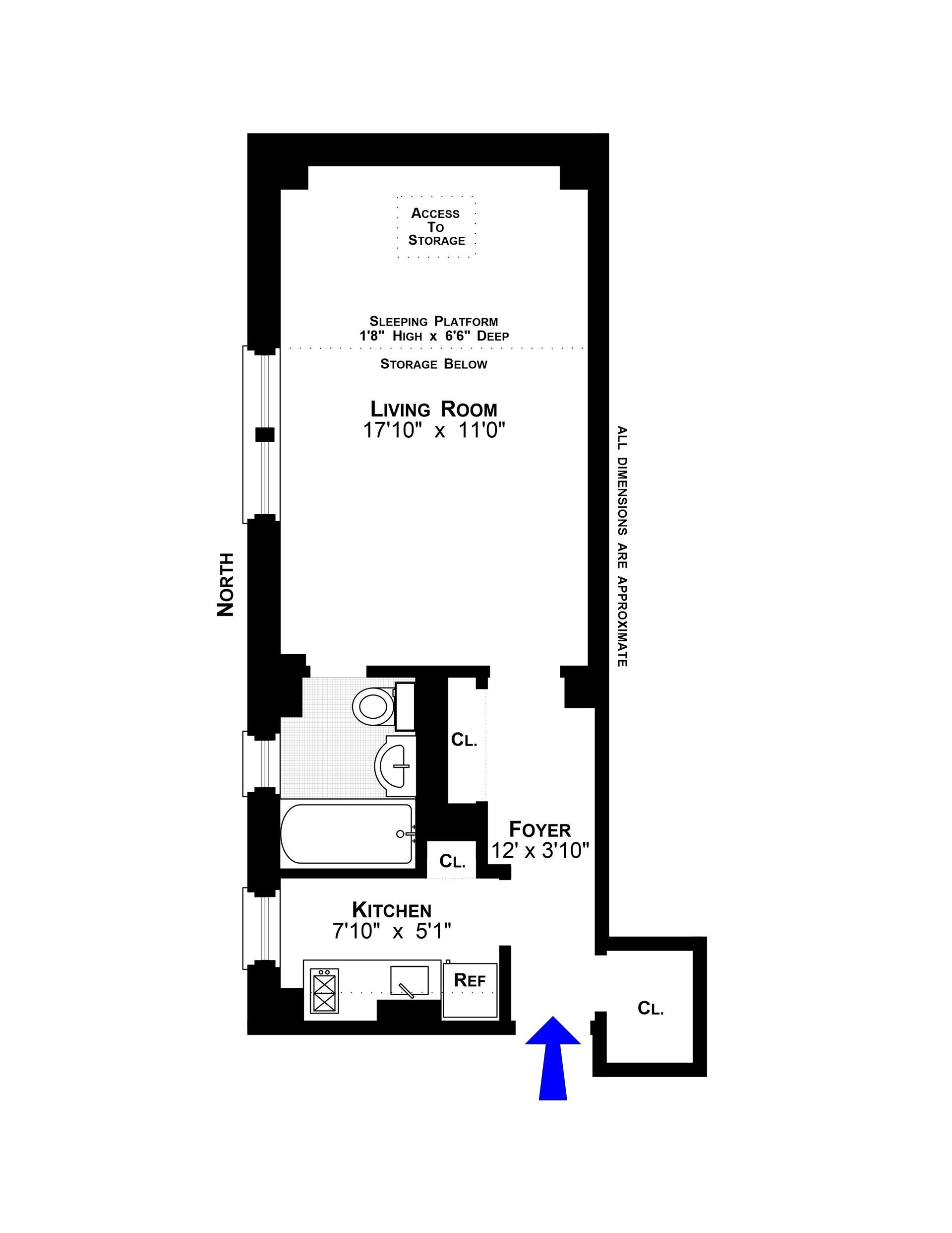 Floor plan of 321 East 54th Street, 7F - Sutton Area, New York