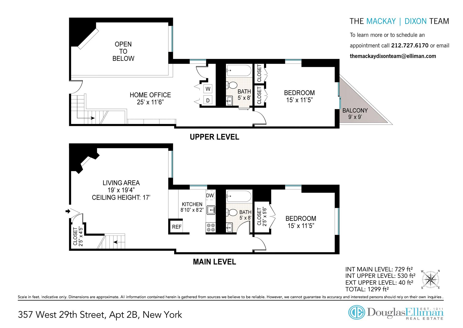 Floor plan of 357 West 29th Street, 2B - Chelsea, New York