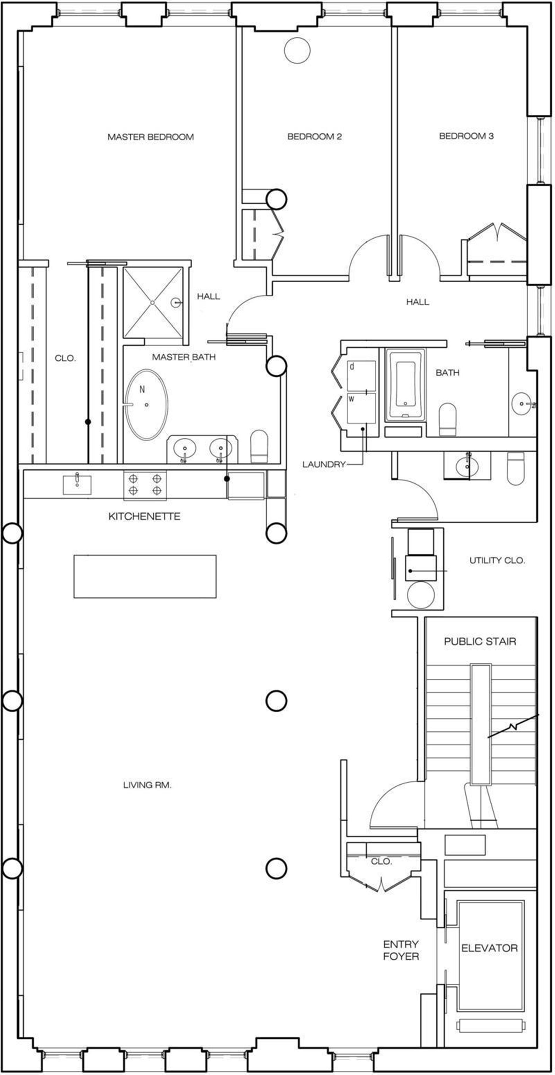 Floor plan of 60 Beach Street, 6D - TriBeCa, New York