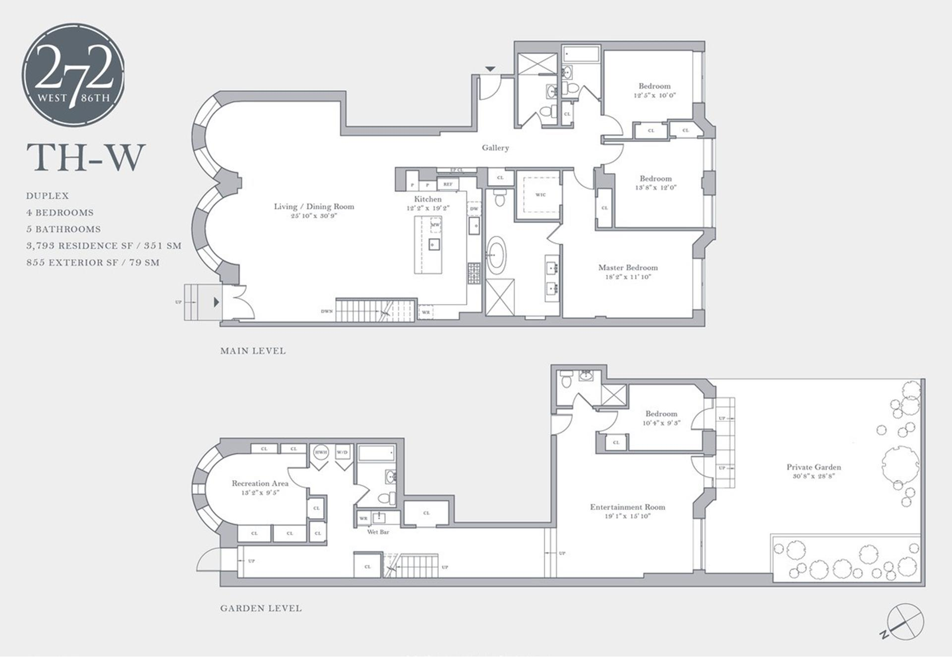 Floor plan of 272 West 86th Street, THW - Upper West Side, New York