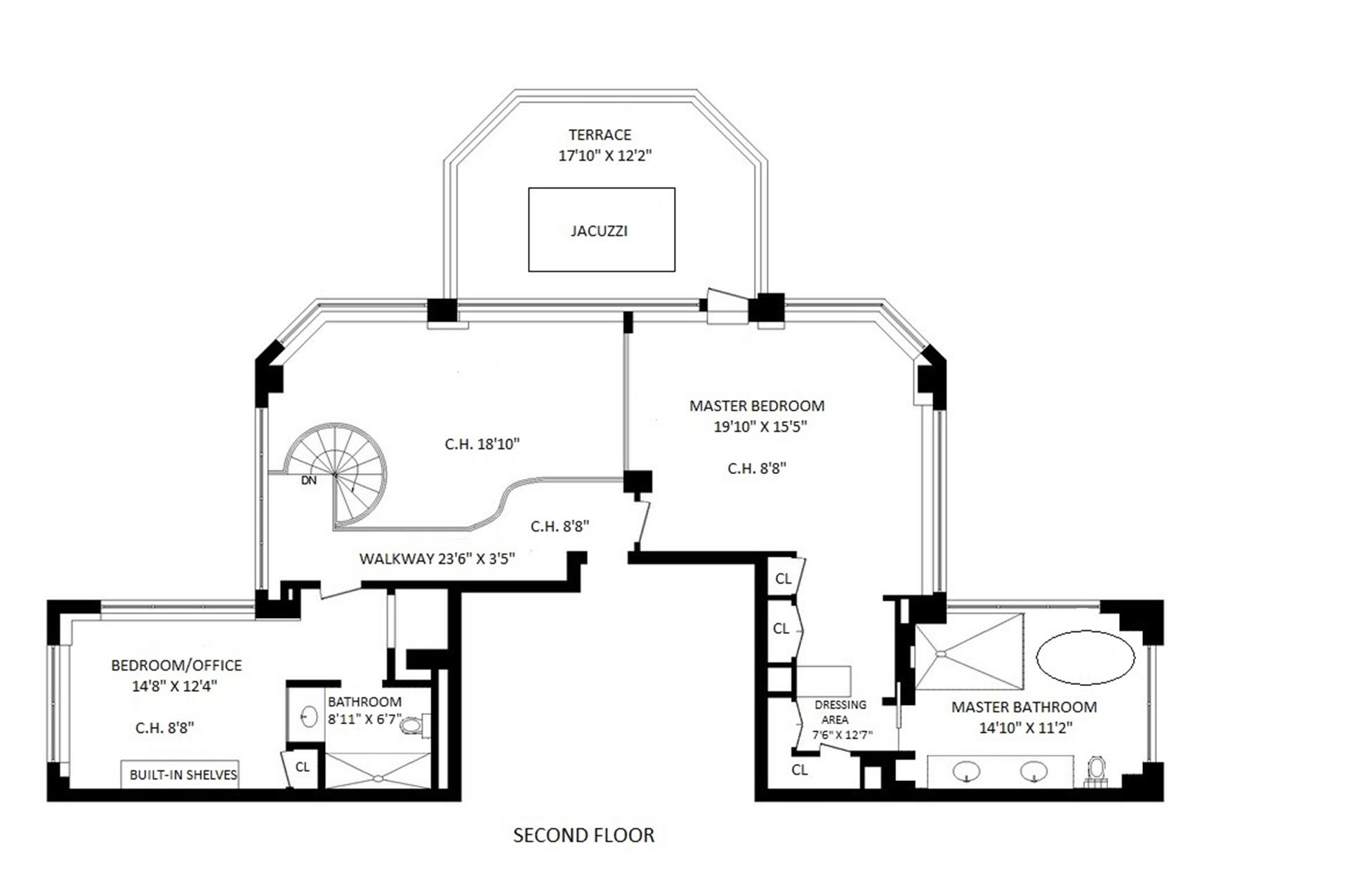 Floor plan of The Royale, 188 East 64th Street, PENTHOUSE4 - Upper East Side, New York