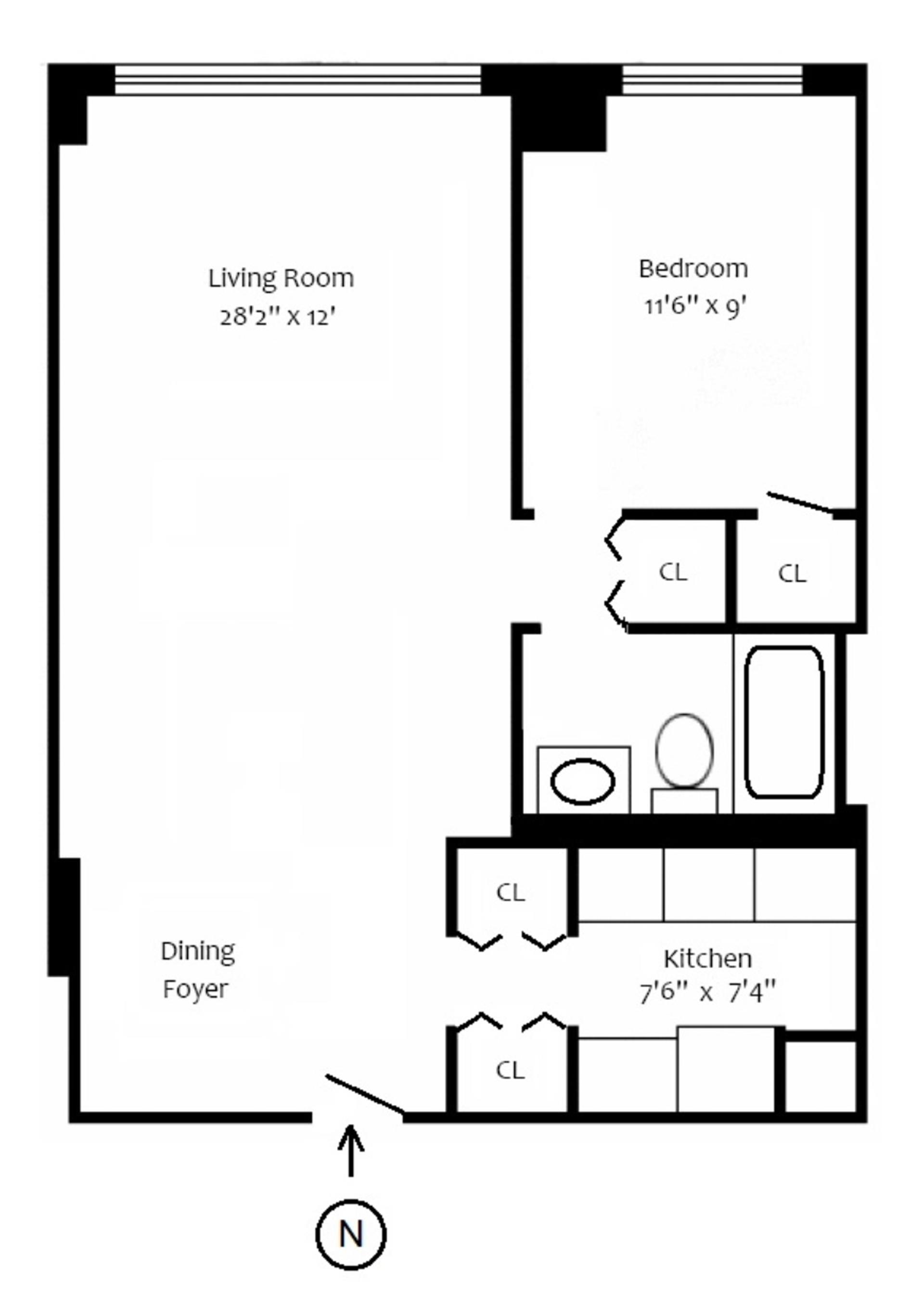 Floor plan of THE BREVARD, 245 East 54th Street, 11N - Midtown, New York