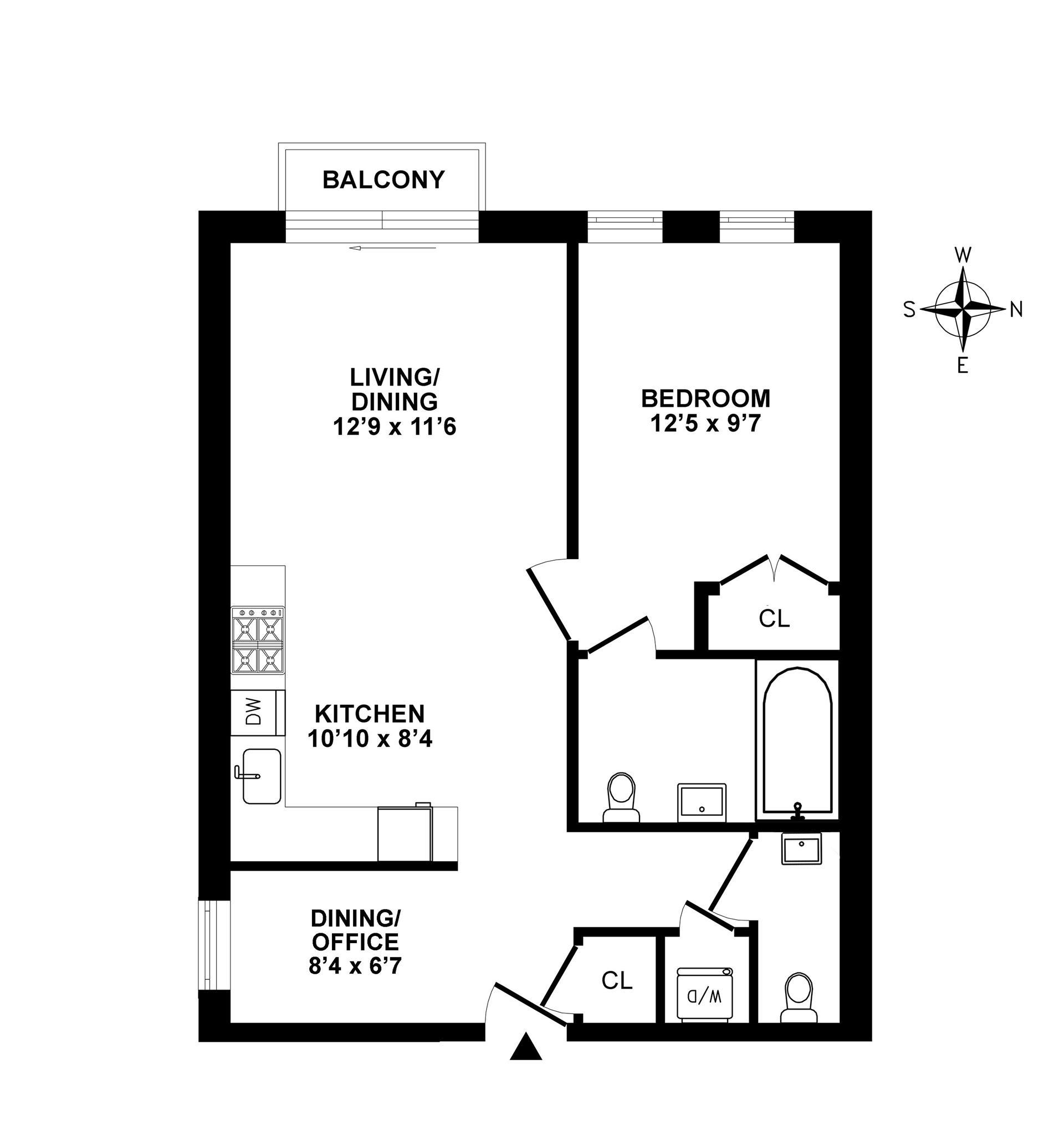 Floor plan of 64 Stanhope Street, 3A - Bushwick, New York