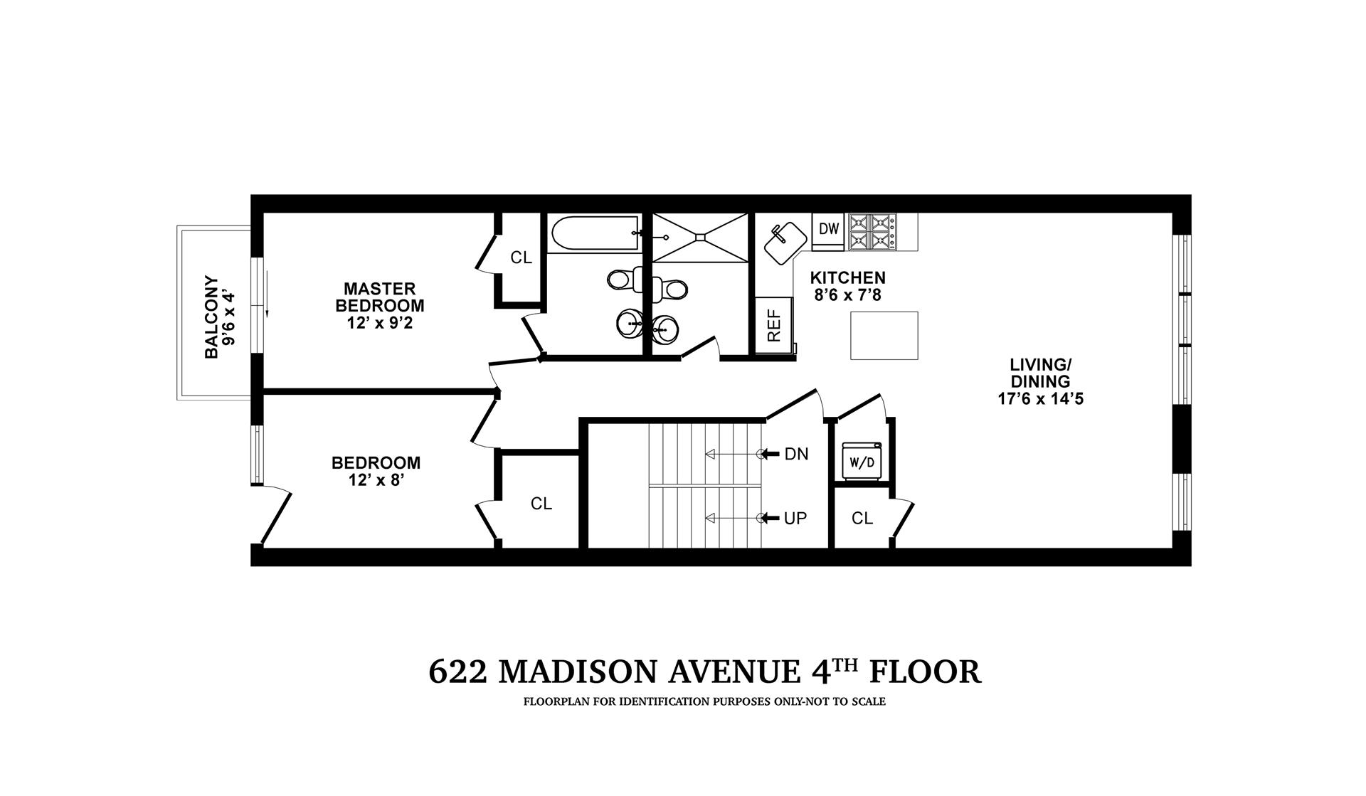 Floor plan of 622 Madison Street, 3 - Bedford - Stuyvesant, New York