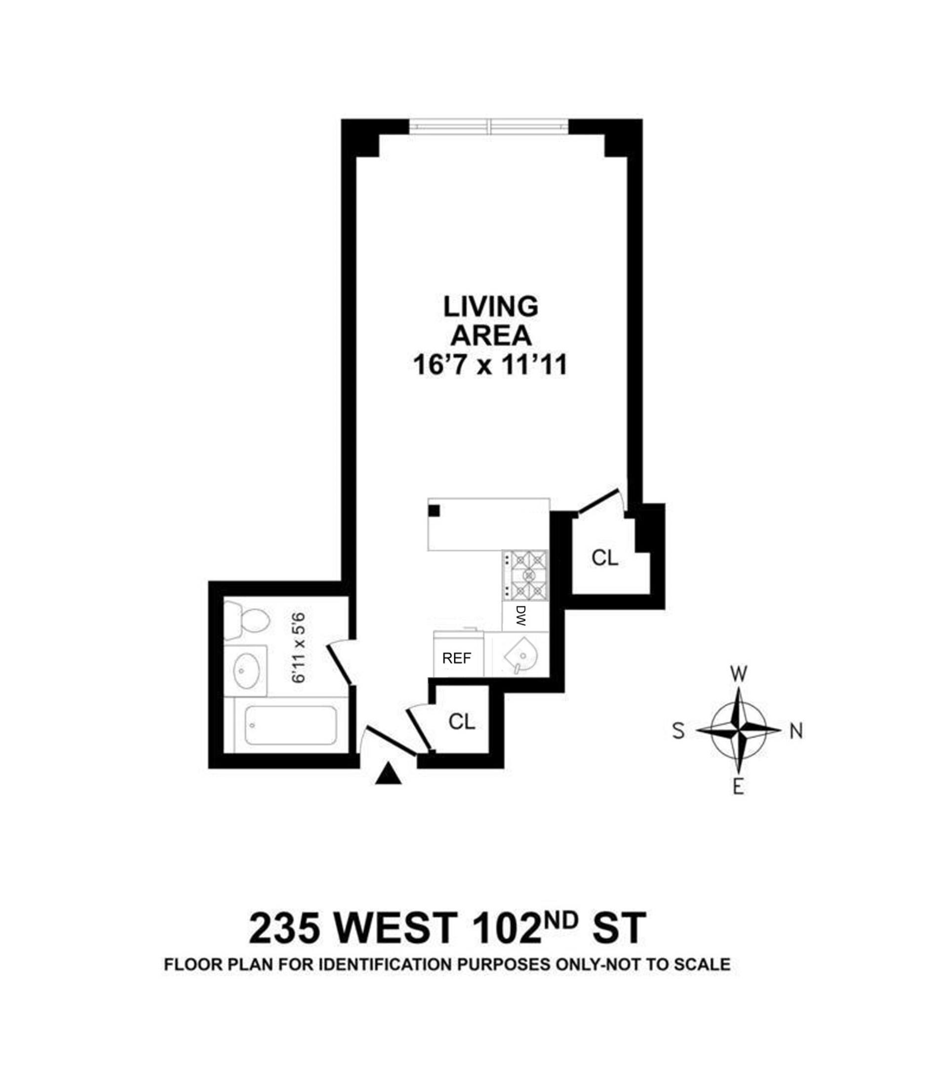 Floor plan of BROADMOOR, 235 West 102nd Street, 14Q - Upper West Side, New York