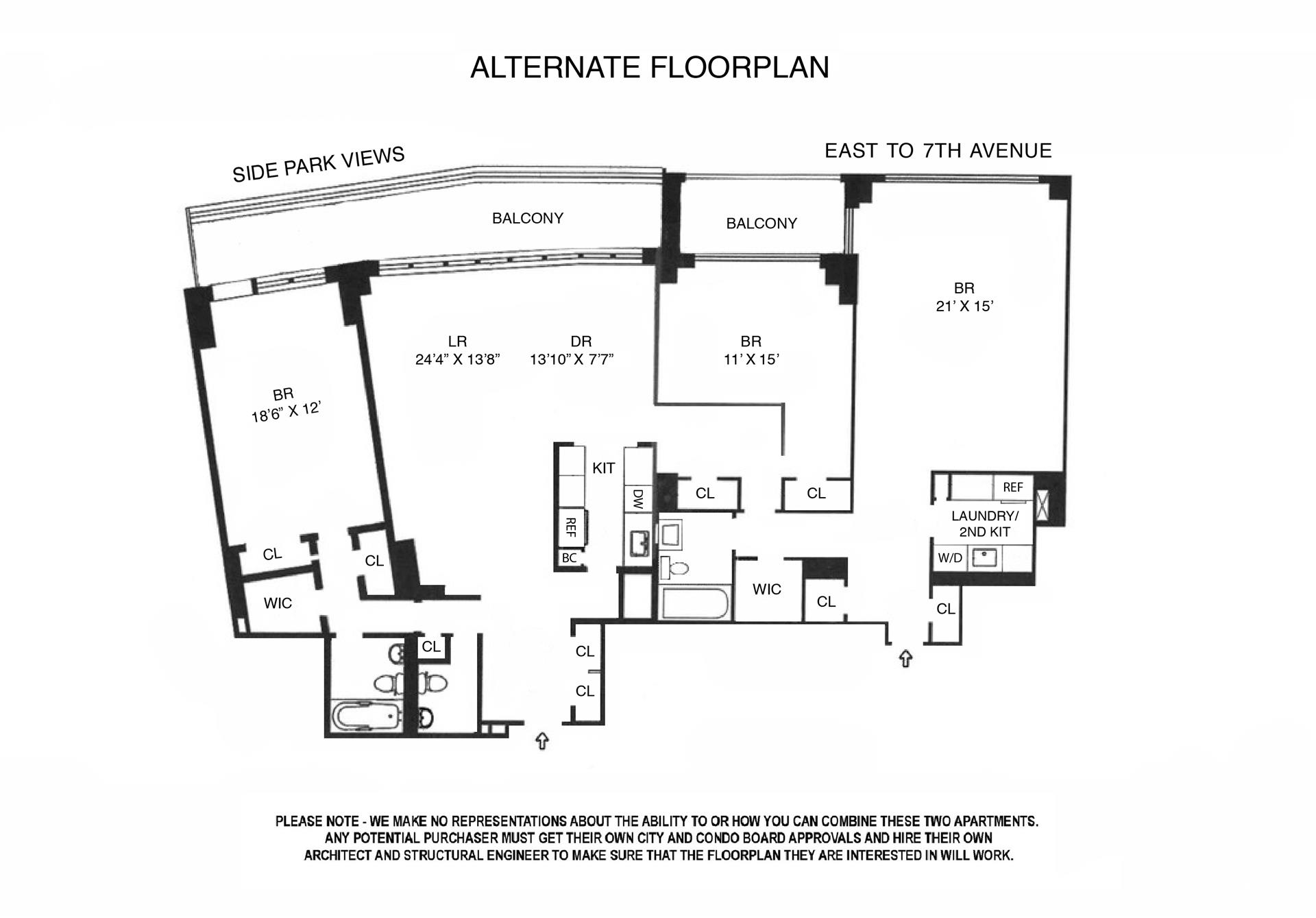 Floor plan of 200 Central Park South, 8IH - Central Park South, New York
