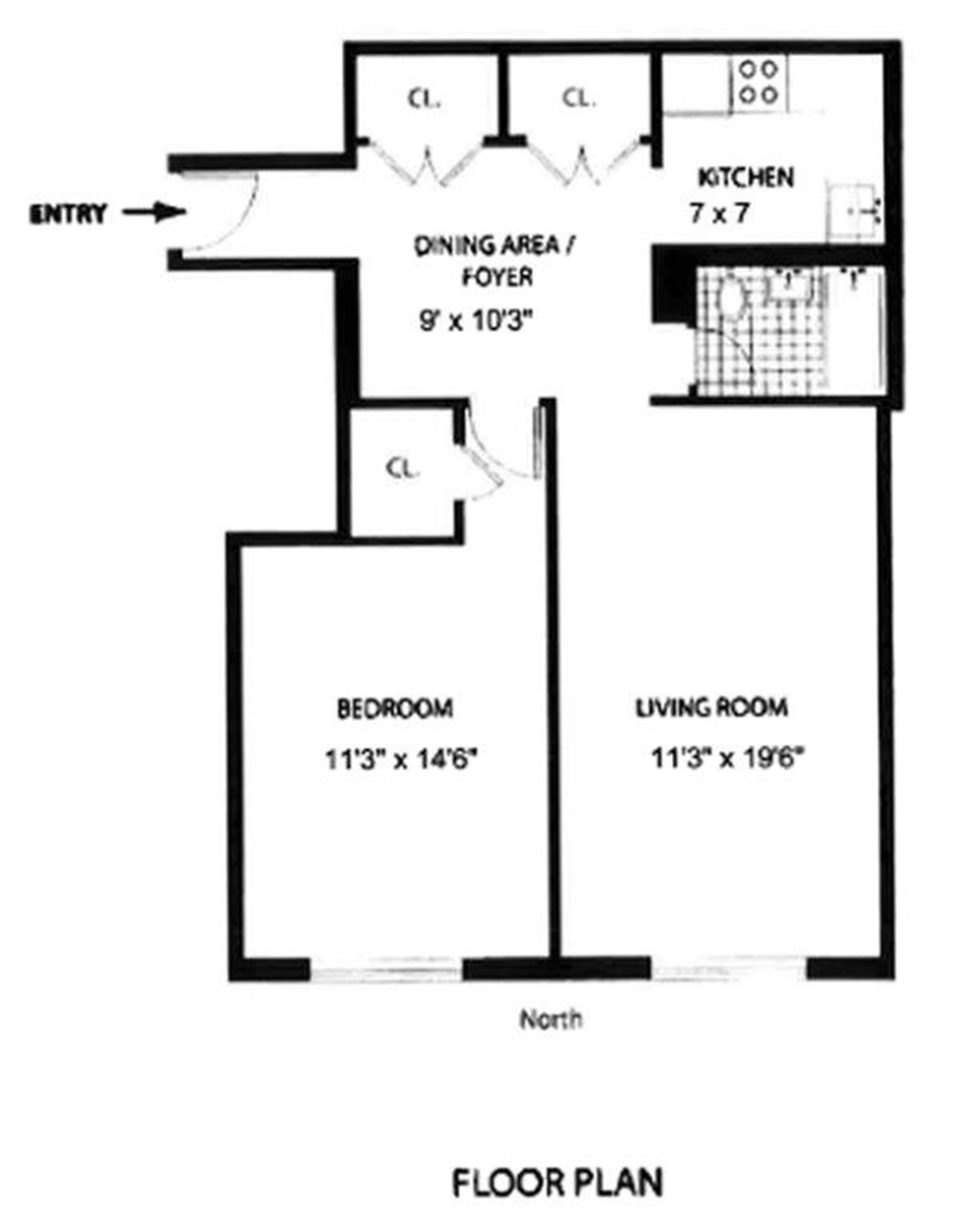 Floor plan of 166 West 76th Street, 3F - Upper West Side, New York