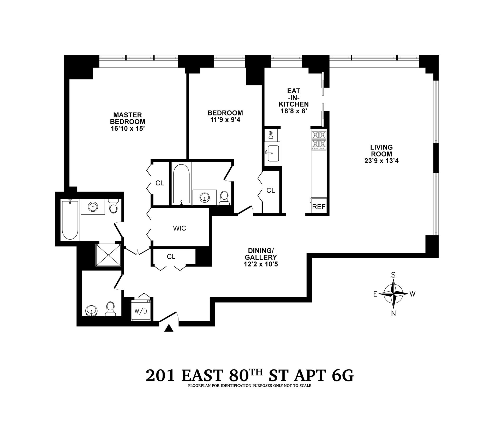 Floor plan of The Richmond, 201 East 80th Street, 6G - Upper East Side, New York