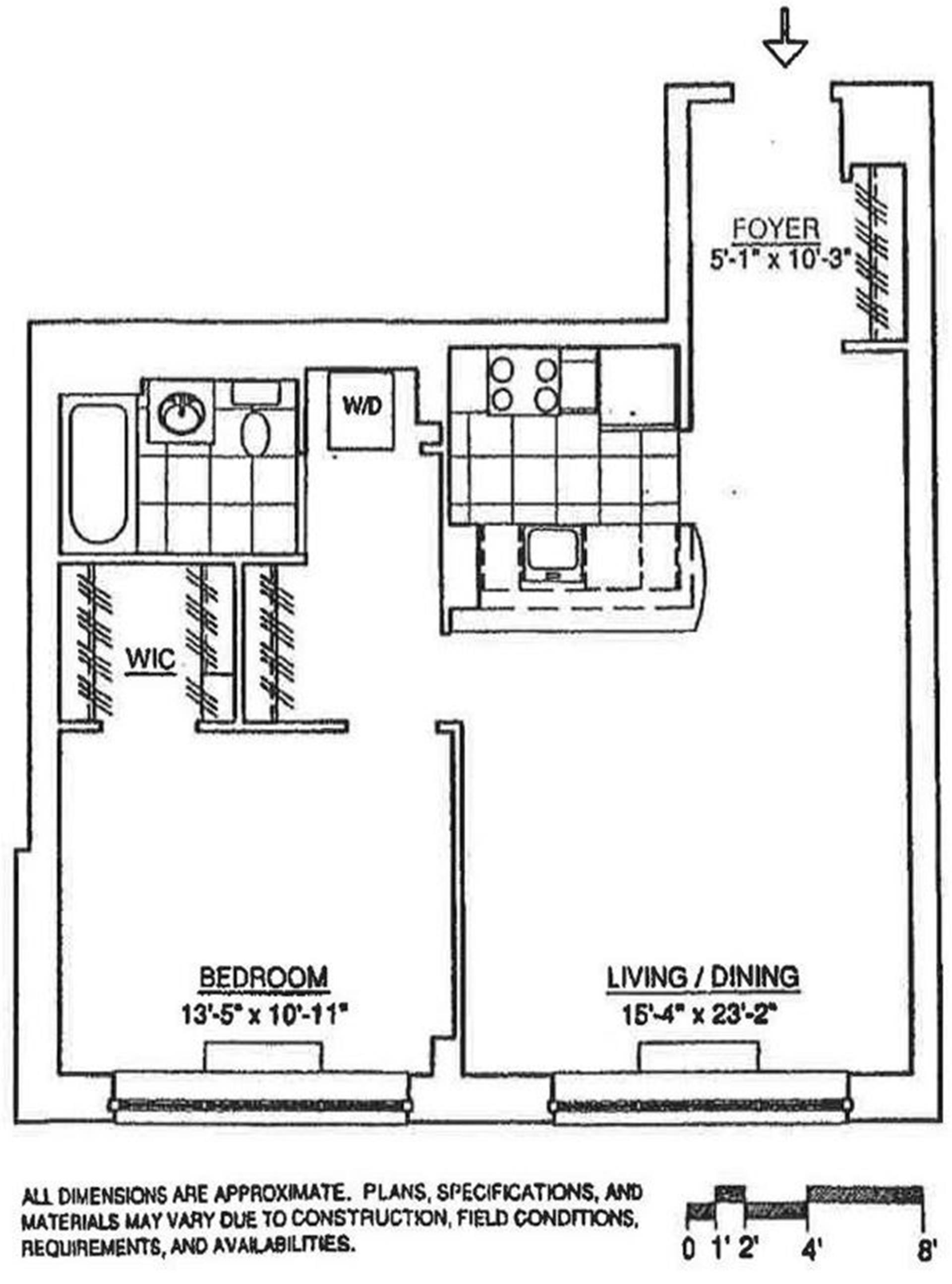 Floor plan of 555 West 23rd Street, N10A - Chelsea, New York
