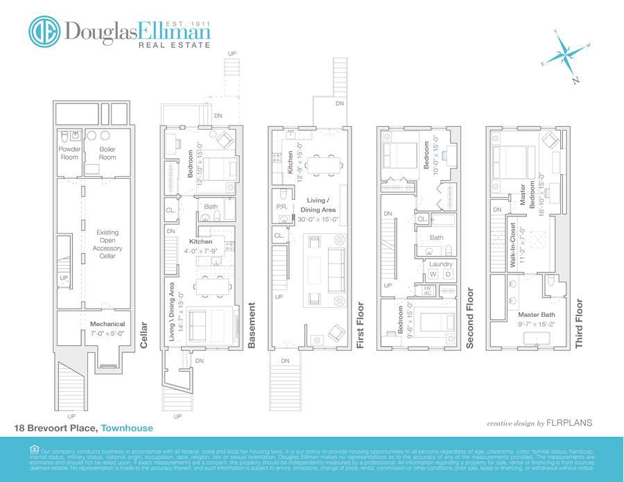 Floor plan of 18 Brevoort Pl - Bedford - Stuyvesant, New York