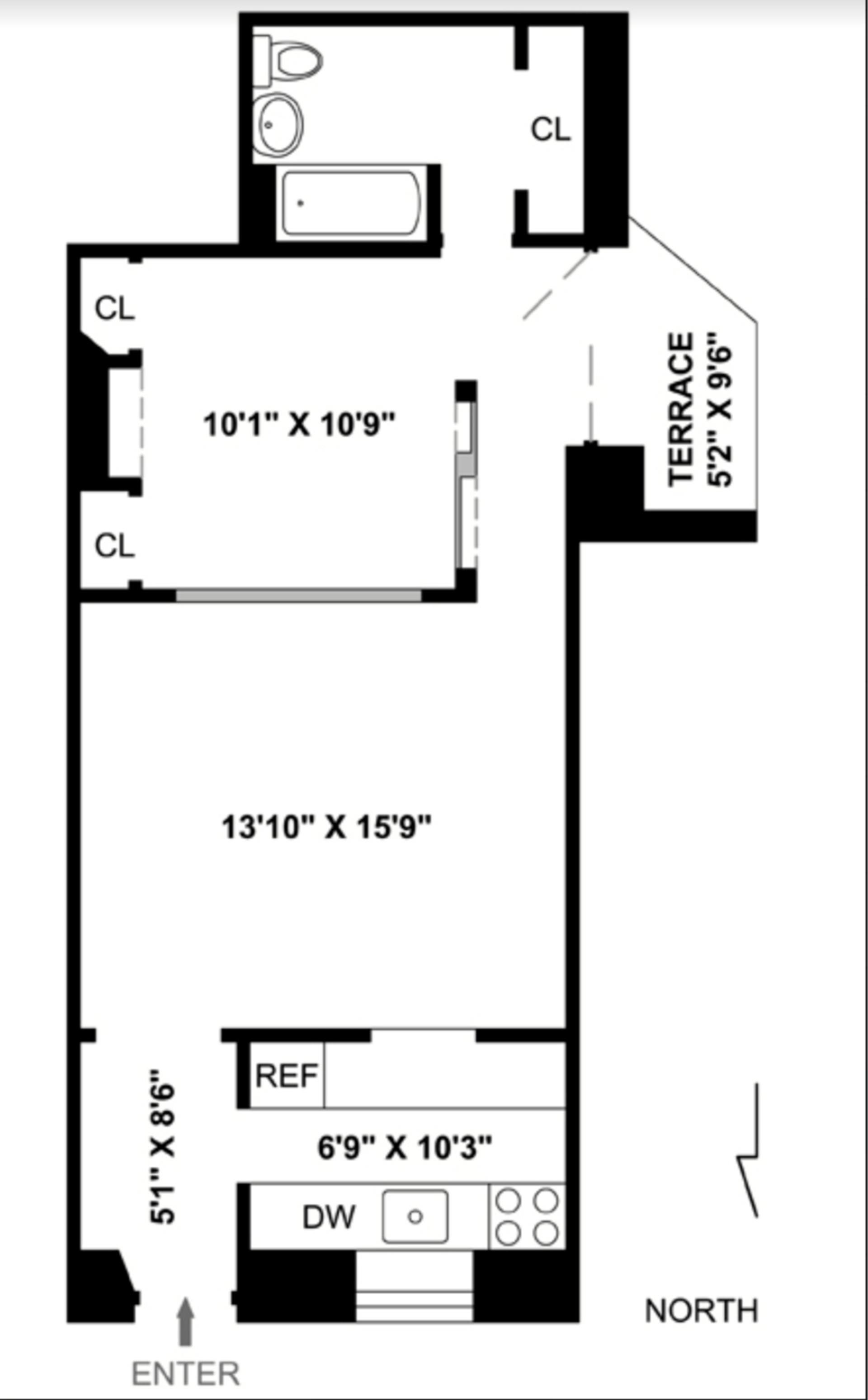 Floor plan of THE PIANO FACTORY, 454 West 46th Street, 1DN - Clinton, New York