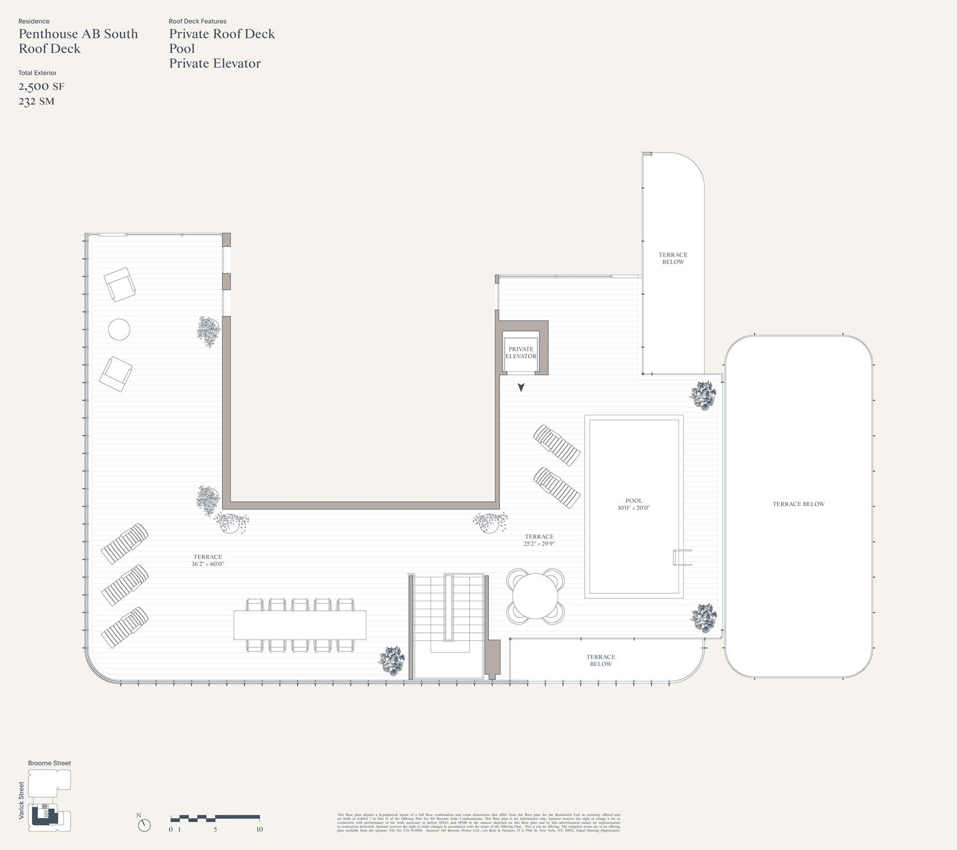 Floor plan of 565 Broome Street, PHSOUTH - SoHo - Nolita, New York