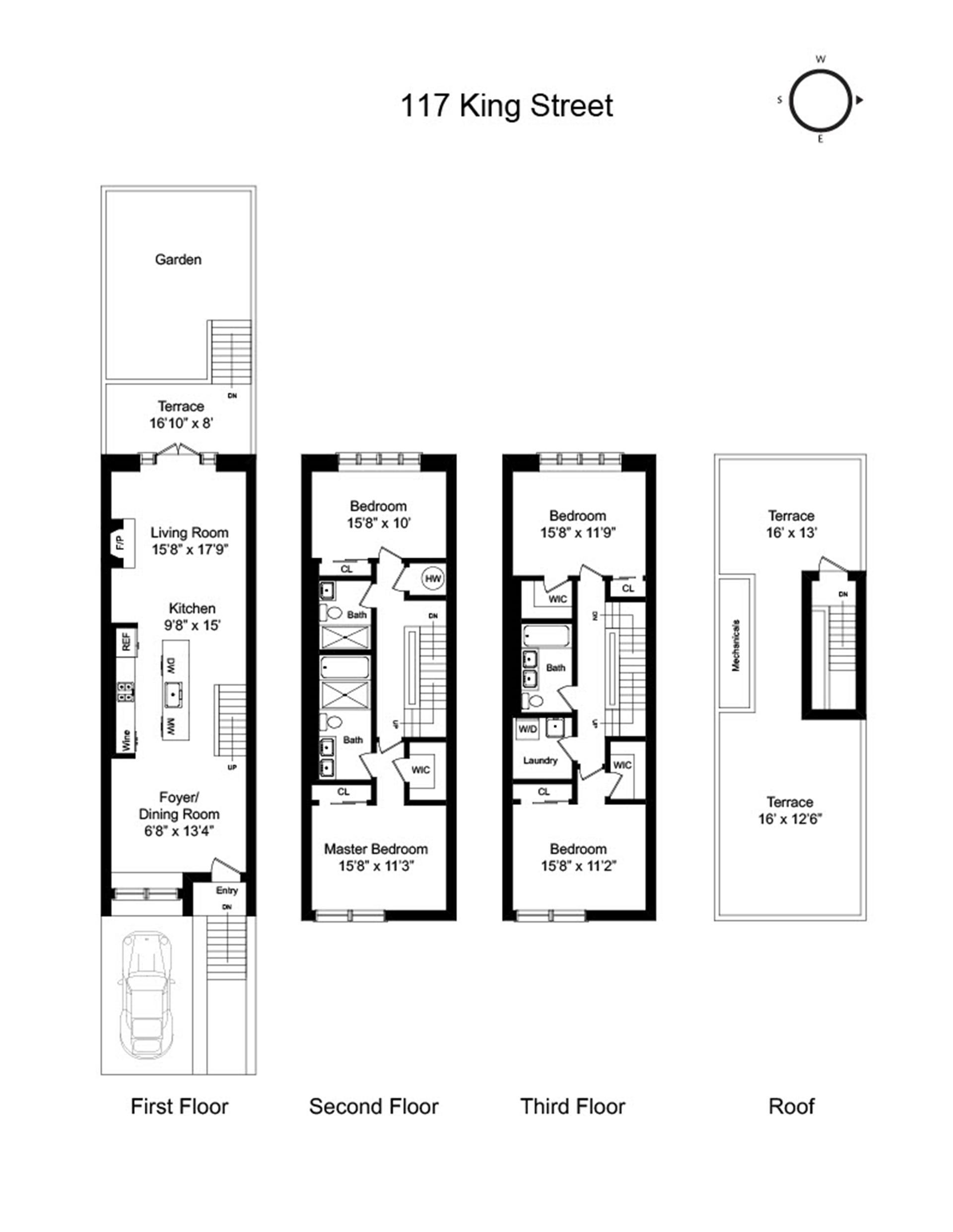 Floor plan of 117 King Street - Red Hook, New York