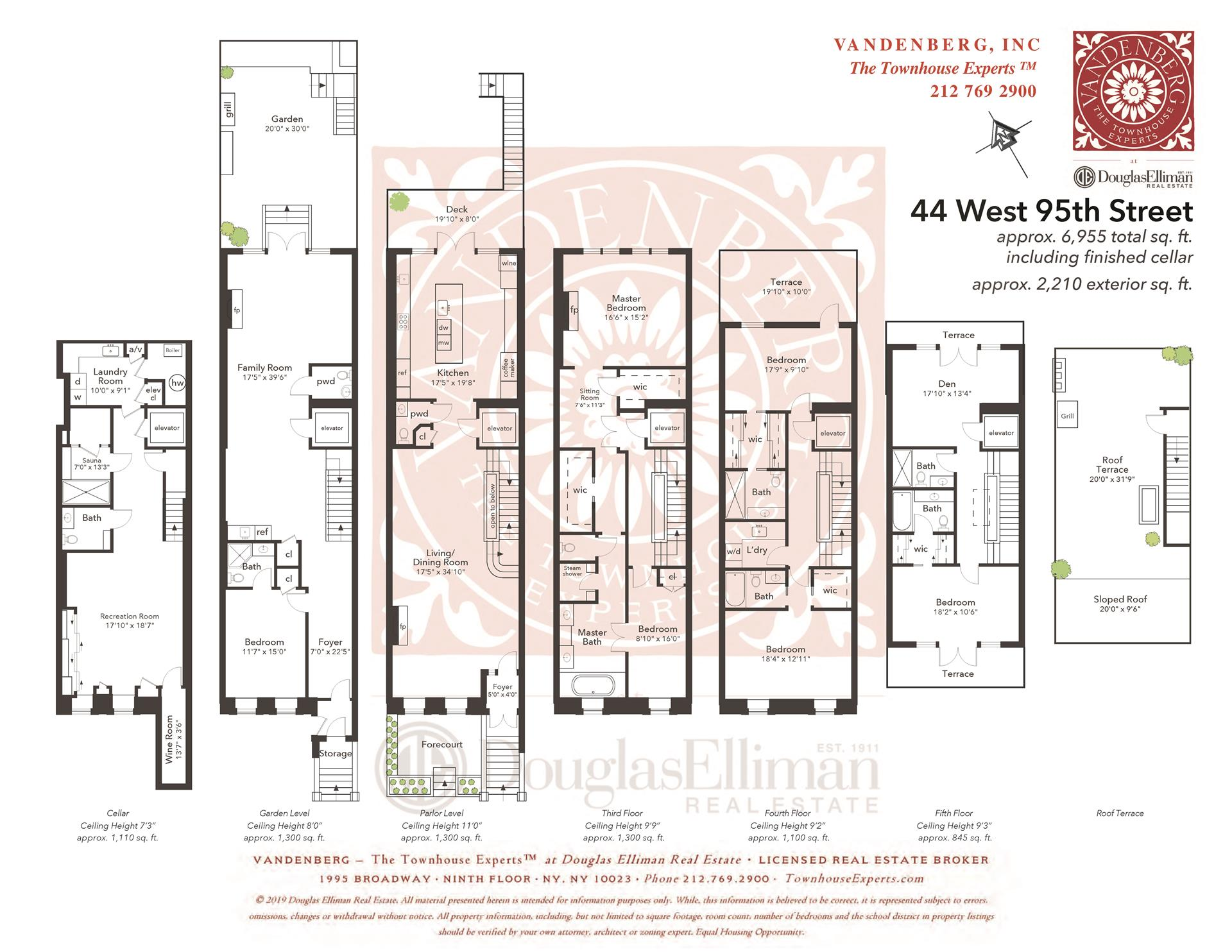 Floor plan of 44 West 95th Street - Upper West Side, New York