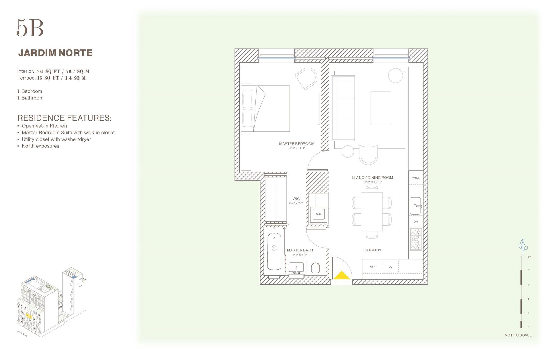 Floor plan of Jardim, 527 West 27th Street, 5B - Chelsea, New York
