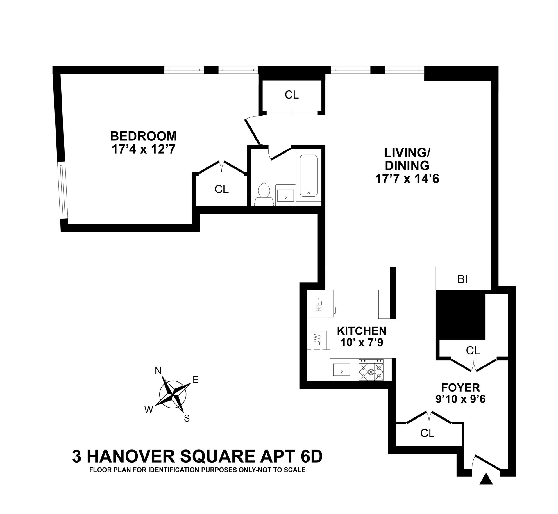 Floor plan of 3 Hanover Square, 6D - Financial District, New York