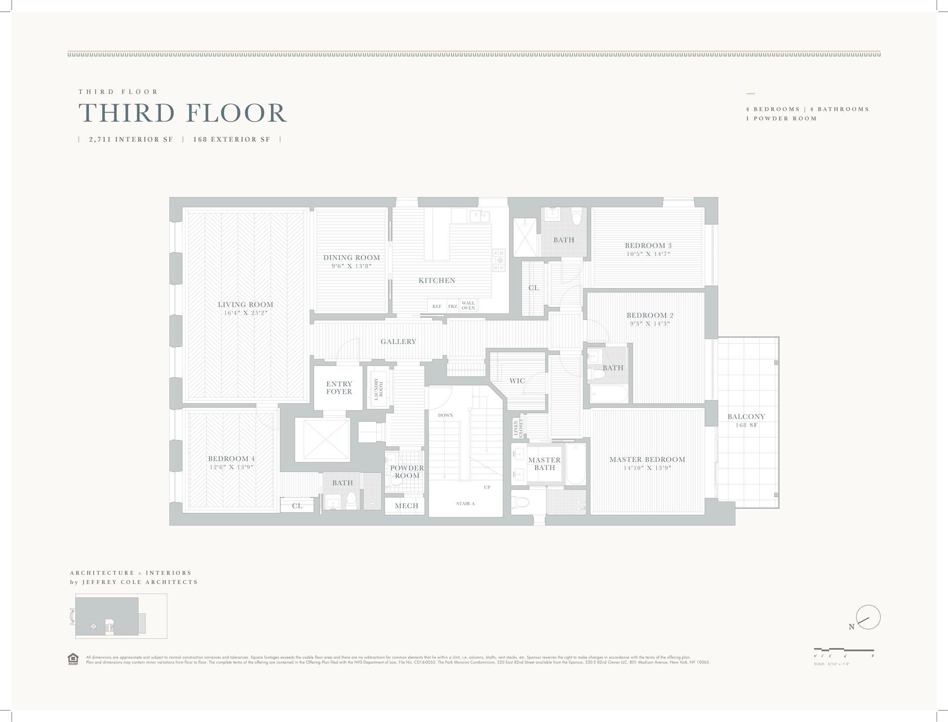Floor plan of 320 East 82nd St, 3 - Upper East Side, New York