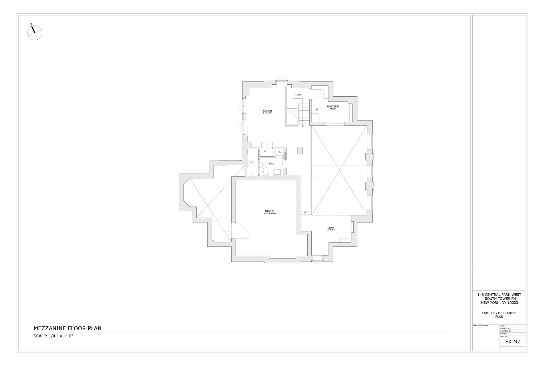 Floor plan of SAN REMO TENANTS CO, 145-146 Central Park West, PHC - Upper West Side, New York