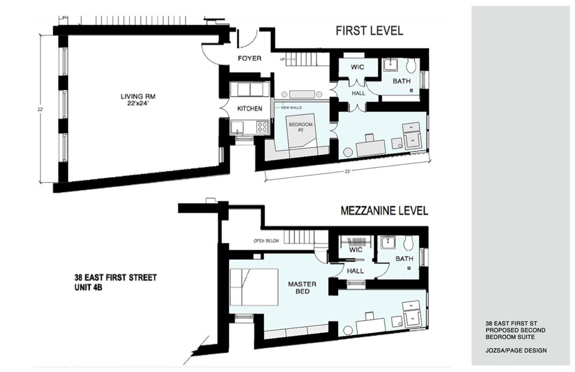 Floor plan of 40 East 1st Street, 4BF - East Village, New York