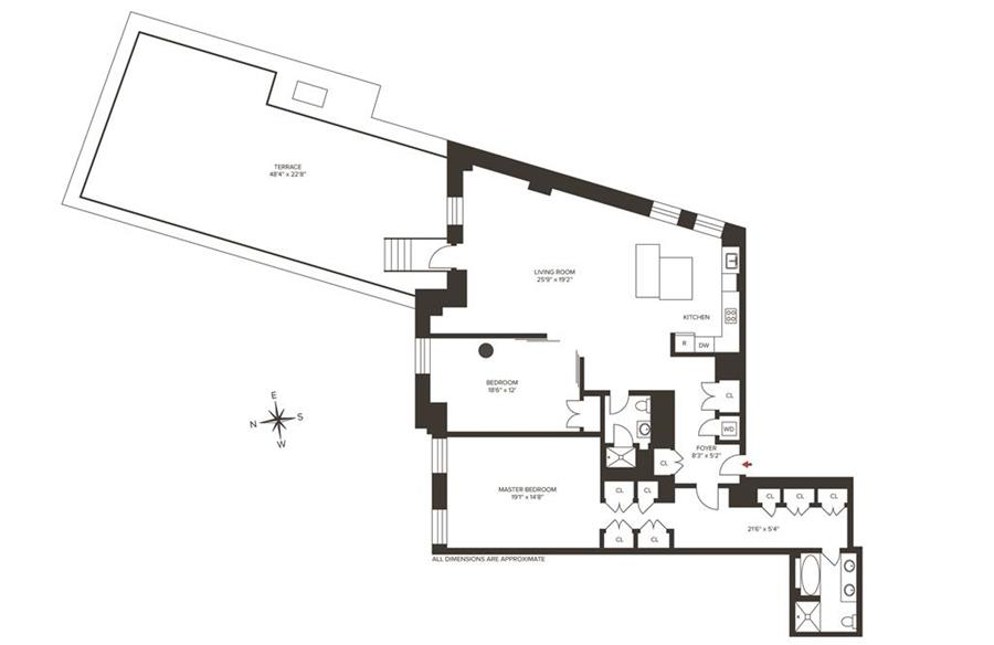 Floor plan of DOWNTOWN BY STARCK, 15 Broad St, 3000 - Financial District, New York