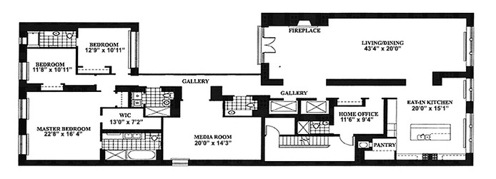 Floor plan of Infinity Flats, 24 East 21st St, 6 - Flatiron District, New York