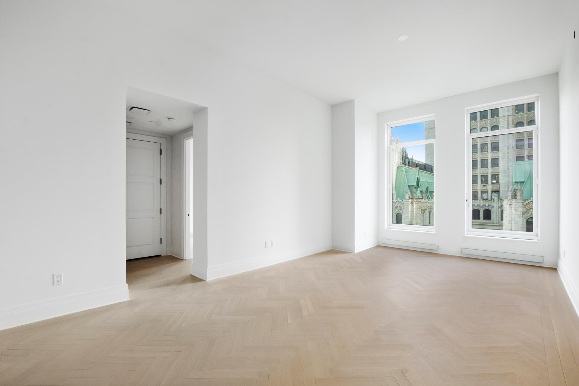 No Fee. Available April 1, 2021. Unfurnished luxury 1 Bed 1.5 Bath condo apartment at 5-star Four Seasons Private Residences at 30 Park Place, Approx. 1,108 SF. Eastern exposure, floor to ceiling windows with tons of natural light. Washer/Dryer in unit. Minimum lease term 12 months, longer terms are welcome. Pets case by case. No smoking, please.This is a condo building, all units require condo board application package, associated fees, and approval.The formal entry foyer leads to the living and dining room with expansive ceilings and solid white oak floors in a natural matte finish and a herringbone pattern. The separate and spacious Gaggenau kitchen is state of art and a chef's dream. The gracious master suite offers ample storage with a large walk-in closet plus second closet, and the en-suite five fixture marble bath features Kallista fixtures and radiant heat flooring.With residences beginning on the 40th floor, the sweeping views are unparalleled. Residents may enjoy access to Four Seasons Hotel amenities including a spa and salon facilities, 75' swimming pool, attended parking garage, restaurant, bar and lounge, ballroom facilities, and meeting rooms, as well as a comprehensive suite of a la carte services. The 38th floor is devoted to private residential amenities including a fitness center and yoga studio, private dining room, conservatory and lounge with access to loggias, Roto-designed kid's playroom, and screening room.Conveniently nestled at the convergence of Tribeca and the City Hall. Close to Brookfield Place and Eataly shopping and dining.Easy transportation access to anywhere with 11 subway lines (1, 2, 3, 4, 5, 6, A, C, E, R, W).Brokers CYOF.