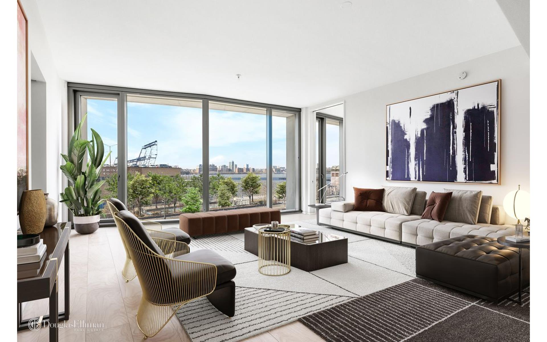 Rare opportunity to live in a Hudson Riverfront facing 2 bedroom/2.5 bathroom home in one of Downtowns most iconic, boutique condominiums in the heart of the West Village.Panoramic views over the Hudson will take your breath away as you walk into this expansive, 1,644 sf residence, envisioned and meticulously executed by renowned developer and hotelier, Ian Schrager and Pritzker Prize-winning architects Herzog & de Meuron.Apartment features include nearly 11' ceilings, hand selected Scandinavian Larch wood floors, floor-to-ceiling windows and state of the art appliances.The showpiece kitchen by Bulthaup, features Sivec marble countertops and backsplash, fully integrated Sub-zero refrigerator, Miele dishwasher, Scandinavian Larch wood cabinets, Gaggenau cooktop, Wolf steam oven, Sub-Zero wine refrigerator and an integrated Miele coffee/espresso machine.The Master Bedroom suite boasts an oversized walk-in closet and a stunning windowed en-suite bathroom featuring a Sivec marble double vanity, wet room with an oversized shower, Kaldewei soaking tub and radiant floor heating.The secondary bedroom offers serene eastern views overlooking the private garden designed by Madison Cox and an en-suite bathroom with travertine stone walls and shower.The breath taking powder room is clad in floor-to-ceiling Scandinavian Larch wood and has a custom designed floating Sivec marble vanity.Additionally, South 5C features custom shades throughout, custom triple pane curtain wall with UVB/UVA protected glass and a private storage bin.160 Leroy St. offers an impressive amenity package including concierge services, a stunning cobblestone porte-cochere, landscaped courtyard by Madison Cox, spa, 70-foot pool, fitness center, yoga/pilates studio, steam room, sauna, massage room, a lounge with a catering kitchen, and children's play room.Call today for additional information/private tour of this extraordinary home at 160 Leroy!*Please note that the furnished pictures are virtually staged