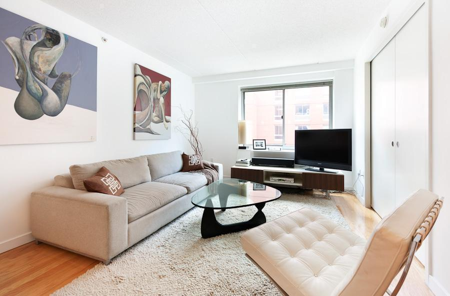Welcome to your charming junior 1BR home located in the coveted Chelsea Art Gallery District between the Hudson River Park and the High Line. The kitchen features granite counters & stainless steel appliances and custom cabinetry. There are large north  facing windows in the living room and bedroom, with views of the garden. 555 West 23rd is a full-service building highlighted by a doorman, concierge, valet, new fitness center, resident's lounge, 10,000sf roof deck. Call today to see what makes this such  a special place to live!