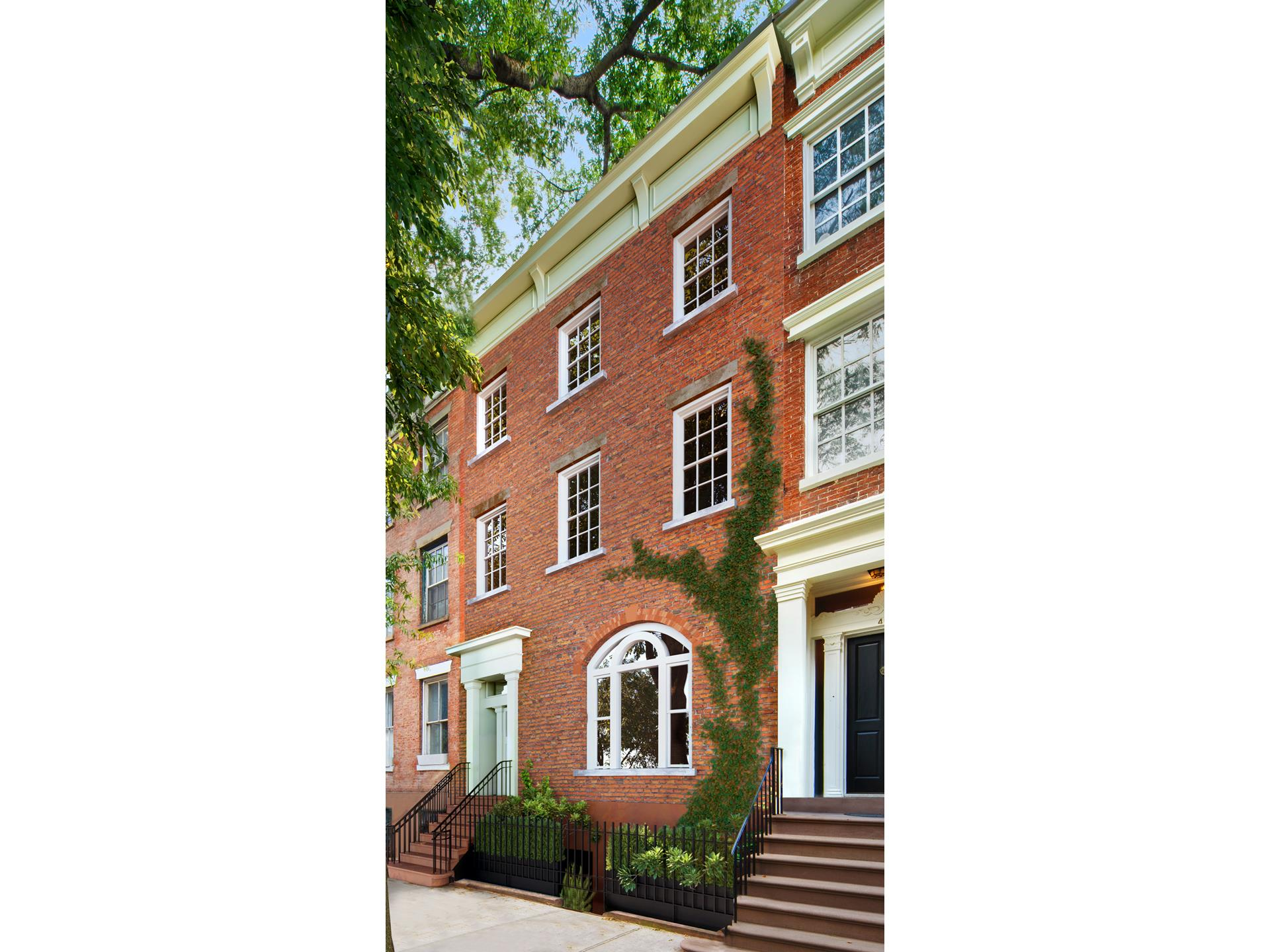 """Twin Houses - Historic Greek Revival Townhouse with 3-Story Private Guest House in the heart of the Gold Coast.    Main House Footprint: 4 Stories at 22Ft X 44Ft  3872SF  Guest House Footprint: 3 Stories at 22Ft X 21Ft  1386SF  Extension for Galleries: 2 Stories at 8Ft X 28Ft  448SF    """"The row of Greek Revival dwellings on the south side of West 11th Street between Fifth and Sixth Avenues is one of the finest early 19th Century Streetscapes in the area""""Charles Lockwood, """"Bricks and Brownstones"""" - Rizzolli Books    Rarely does a property of this distinction and unique footprint come to market. Here is the opportunity to create a home of extraordinary proportions incorporating two distinct buildings situated on the most sought-after street in Greenwich Village. A classic   Greek Revival townhouse with a separate three-story guest house. Both buildings are 22 feet wide on a 94-foot lot.    The main townhouse is an elegant, well-preserved classic row house on the most desirable block in Greenwich Village, often referred to as the """"Gold Coast"""".  The rear garden and additional guest house are unexpectedly surrounded by lush greenery offering a green   oasis in the center of the Village.  The main historic house is 22' X 44' plus an extension, which provides bathrooms on all four floors. As a Greek revival townhouse, the proportions are graceful and elegant, retaining architectural details of the 19th century   such as high ceilings, fireplaces, parquet floors, original moldings, and pocket doors. Now divided into four apartments, it can easily be converted back to its grand original configuration as a distinguished single-family home.    The property will be delivered vacant.    The main house is connected to the guest house by a two-story gallery creating a """"picturesque secret garden"""" with the ambiance of an inner courtyard in Provence, an urban oasis in the heart of the city. Both the parlor floor and the gallery have French doors   opening out to two separate, sunny b"""