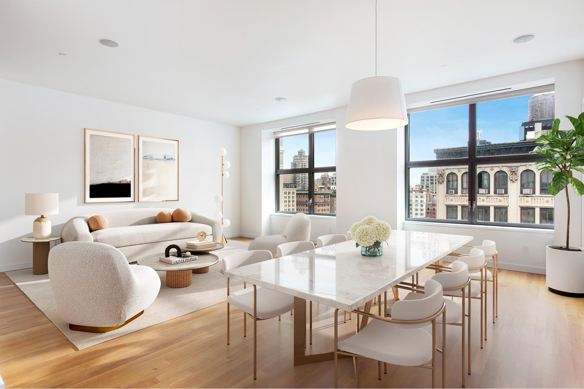 Residence 14B at 240 Park Avenue South is a beautifully appointed 2,139 square foot 3-bedroom 3.5-bathroom designed by Annabelle Selldorf.    Offering beautiful views of gramercy Park from extra-large, double-hung windows, and 10' ceilings, the spacious living room is the perfect place to relax or entertain and the loft like space leaves plenty of room for a generous dining area too. The open kitchen   is equipped with professional-grade appliances, including two Sub-Zero refrigerators, K ppersbusch oven, Miele dishwasher and Viking wine cooler.    The primary bedroom suite includes custom walk-in closet and a spa-like five-fixture bathroom with elegant freestanding clawfoot tub. The second and third bedrooms offer en suite bathrooms with ample closet space and flexibility to utilize as a home office   - working from home never looked so good, especially with views of Gramercy Park!    The unit is fully wired and managed by a Control 1 system, with built in speakers and Nest dual zone HAVC. A washer/dryer adds to the overall convenience.    Designed by Gwathmey Siegel, this centrally located, 17-story condominium features 48 units, a 24-hour doorman and concierge, fitness center, media room, library, and landscaped courtyard.