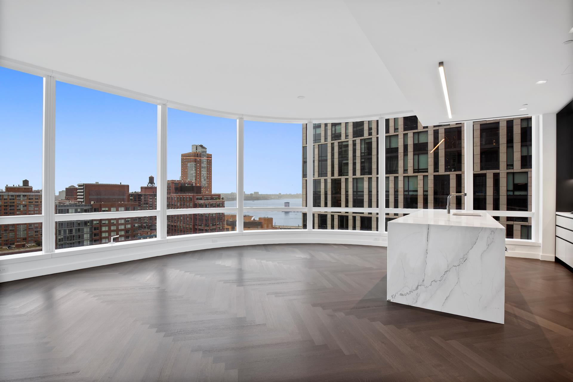 SHOWINGS ARE BY APPOINTMENT ONLY IN BUILDING. PLEASE KINDLY MAKE APPOINTMENT WELL IN ADVANCE TO MAKE SURE WE CAN ACCOMMODATE.PRICED TO SELL WELL BELOW MARKET! BUYER MUST CLOSE BY END OF YEAR. SPECTACULAR DOUBLE CORNER TRUE 4 BEDROOMS 4.5 BATHS HOME WITH   NORTH, WEST AND SOUTH HUDSON RIVER VIEWS AT 111 MURRAY STREET, TRIBECA'S NEWEST LUXURY BUILDING WITH FIRST EVER HAMMAN, TWO POOLS, PRIVATE DINING AND MORE. BE THE FIRST TO LIVE IN THIS MASTERFUL HOME AND ENJOY STUNNING SUNSET VIEWS EVERYDAY.Step off the elevator   onto your own private vestibule and enter your new home. This exceptional four bedroom residence, with curved high floor-to-ceiling crystalline glass, boasts beautiful light from three premium exposures and uncompromising Hudson River and Verrazono Bridge   views. The entry galley leads to the great room with a spectacular open custom kitchen adorned with white Calacatta Borghin marble countertops book-matched waterfall, cerused White Oak cabinetry trimmed in custom soft black metal, Dornbracht fixtures in a   custom soft black matte finish, pantry, and top-of-the-line appliances by Wolf, Miele, and Sub-Zero including 5-burner gas cooktop with built-in fully vented hood, dishwasher, wall oven, speed oven, and wine refrigerator. The corner grand master bedroom suite   faces south west and offers a large walk-in closet and luxurious master bathroom suite with radiant heat floors, travertine stone slab feature walls, double vanities with custom white marble and a a freestanding BluStone soaking tub positioned to enjoy open   south-facing views through a full-height window. The three additional bedrooms also have their own en suite baths. An extra powder room, utility closet and wash room with vented dryer complete this stunning private residence. This home has been upgraded with   custom closets and shades throughout.Developed by a partnership of Fisher Brothers, Witkoff, and New Valley, 111 Murray Street soars some 800 feet, offering 157 residences. A colla