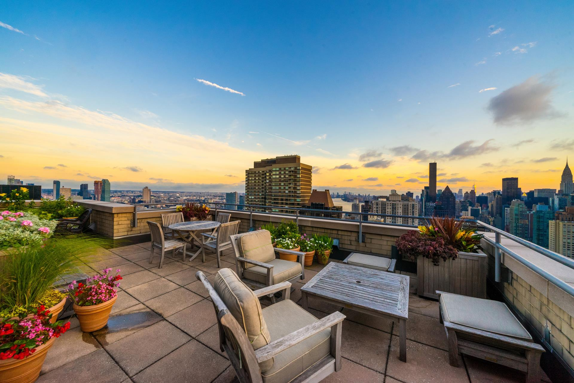 OWNER RELOCATING OUT OF STATE & WANTS 2020 SALE!The Penthouse at Bridge Tower Place is a combined 4960 square feet spanning the entire 39th floor of 401 E. 60th Street.With 2560 interior square feet and 2400 exterior square feet, this full-floor 3 bedroom - 2 bathroom - 1 powder room apartment features 360 degree views, walls of windows on every side, a full wrap-around terrace, a seamless living flow, every modern convenience (including wood-burning fireplace, touch controlled lighting + shades, & fully-integrated home audio solutions), and is accessible only via private landing.Views encompass all 5 boroughs (plus New Jersey), 7 iconic bridges, Central Park, The Palisades, and almost every meaningful tower in New York  --  One World Trade Center, The Chrysler Building, The Empire State Building, Hudson Yards, 432 Park Avenue, 520 Park Avenue, 220 Central Park South, the entirety of Billionaire's Row, and the choicest of Central Park West's tony buildings.Through the private entry, one is captured by the 60 foot long wall of sunset facing floor-to-ceiling windows that incase the dining, living, and media rooms. Each portion of this wing is sensibly laid out and can be separated by a myriad of cleverly concealed pocket doors.The kitchen is state-of-the-art, as expected, with Subzero, Miele, and Viking appliances. The counters are granite and the wet-bar (with wine refrigerator) leads to a clever laundry nook, in which the Electrolux washer and dryer are stored.On the opposite, North facing side of the apartment, one finds the exquisite master bedroom with marble en-suite windowed bath. From this place of respite one can access the wrap-around terrace, which is the crown jewel of this abode.The 360 degree outdoor space is beautiful planted and has at least four distinct sections which make multipurpose / multi-use possible. As with the rest of the home, it has a state of the art speaker system.401 E. 60th Street, PH is currently configured as a one bedroom apartment,