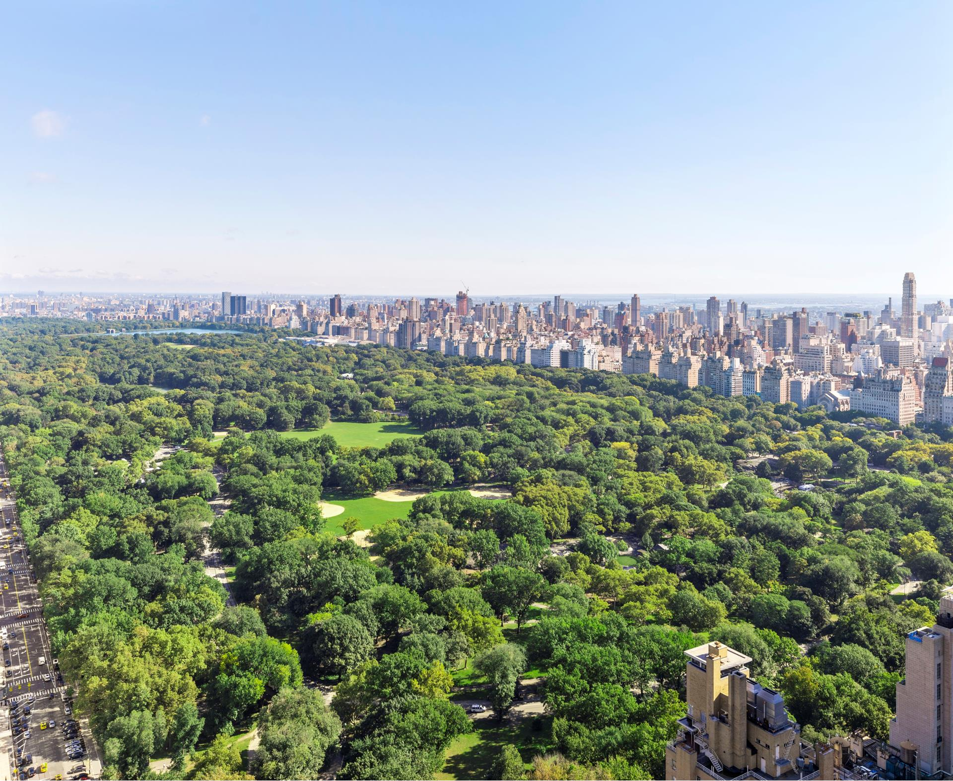 Stunning Billionaires row condominium has sweeping, unobstructed views of Central Park, Columbus Circle, and the gorgeous skyline. The $239 million dollar views can be yours!Enjoy breathtaking vistas that span to the north from the George Washington Bridge to the southern tip of New York City and beyond. A formal entrance foyer leads you into an expansive living room with three exposures and an oversize bay window. The bedrooms are both spacious with corner exposures, and their split layout is optimal for privacy and comfort. The extra-large master suite has expansive views of Central Park, while the second bedroom gets a bird's eye view of the Manhattan Skyline and World Trade Center. Ample custom closets, marble bathrooms, herringbone hardwood floors, hi fidelity audio/video, and a vented washer/dryer complete this home.Central Park Place is one of Manhattan's most desirable condominiums. Services include a 24-hour doorman; health club with indoor swimming pool, sauna, boxing room, massage room, yoga room; terrace; renovated party room/lounge; overnight guest suites; and even a private entrance to subway.