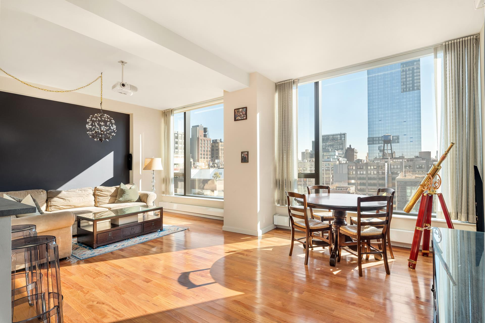JUST LISTED! Luxury living in West SoHo! Bright, open and oversized apartment in one of downtown's most highly sought neighborhoods! Spacious condominium apartment has central A/C, Fisher Paykel range, Bosch dishwasher, Sub-Zero fridge, wine refrigerator, garbage disposal, Washer/ Dryer, and a Video/ Intercom messaging system. There are 10 foot ceilings, hardwood floors and exceptional closet space.Both the oversized living room and large master bedroom have serene open city views facing East. The building features a 24-hour doorman/ concierge, fitness center, pet spa, zen-meditation garden, children's playroom, bike storage and private resident storage. Situated between the Hudson River, Tribeca, the West Village and prime SoHo, 505 Greenwich is accessible to the best of Lower Manhattan.
